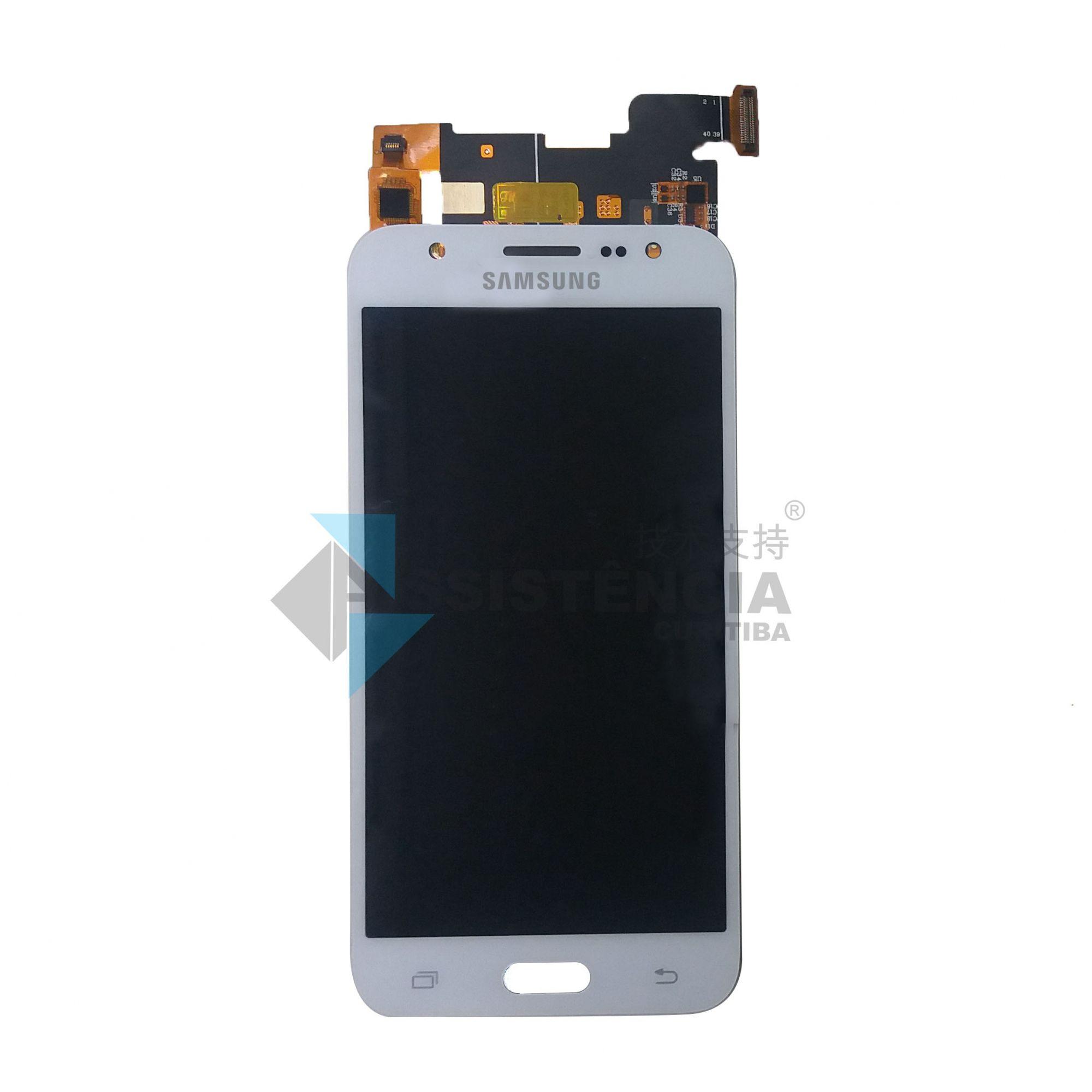 Tela Display Samsung Galaxy J5 J500 Sm-J500M/Ds Com Brilho Branco