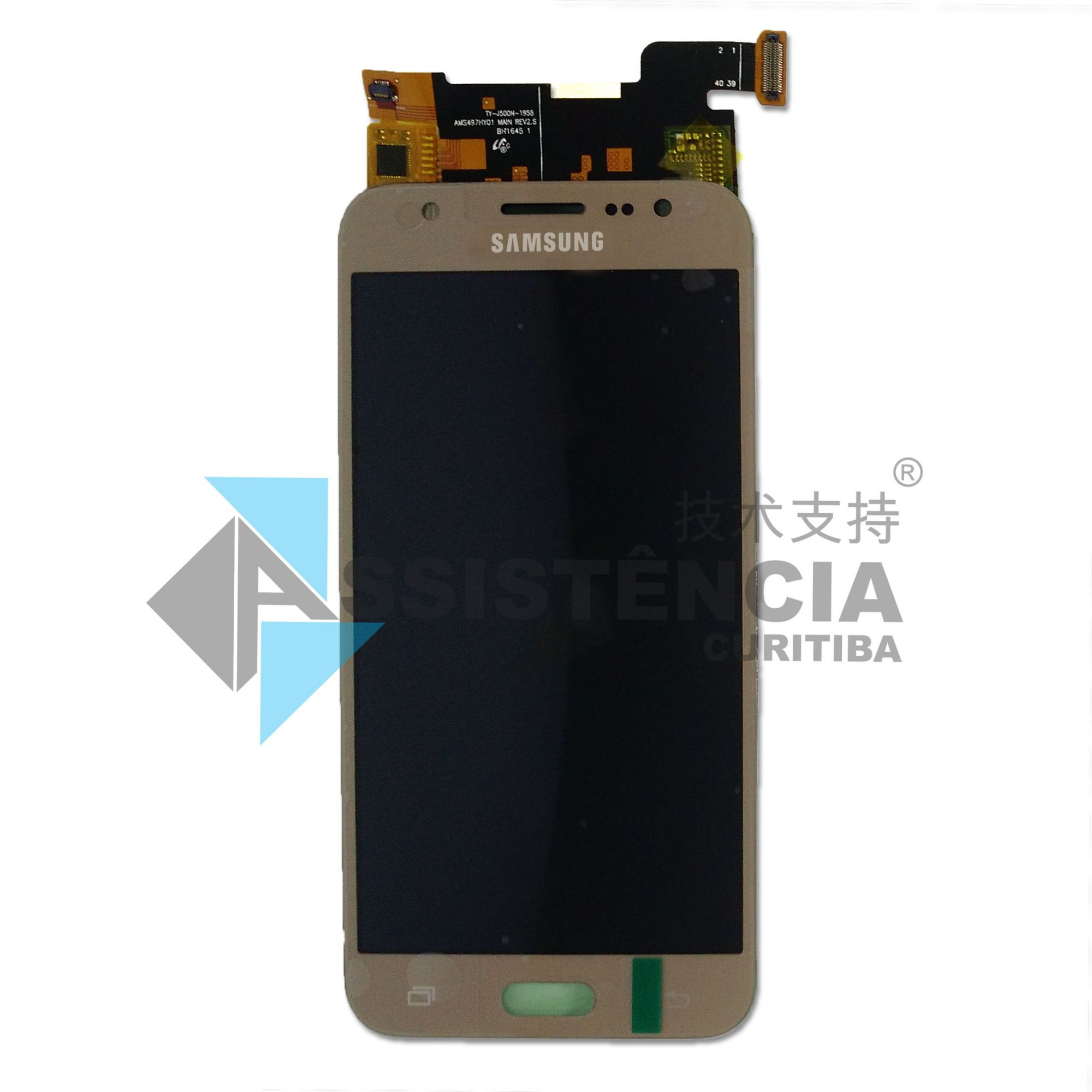 Tela Display Samsung Galaxy J5 J500 Sm-J500M/Ds Com Brilho Dourado