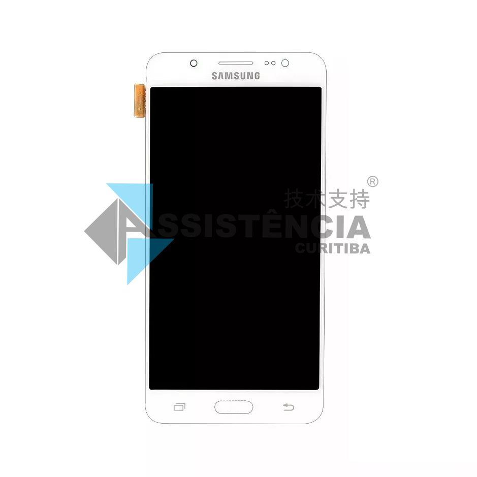 Tela Display Samsung Galaxy J5 J510 Metal 2016 Sm-J510Mm Com Brilho Branco