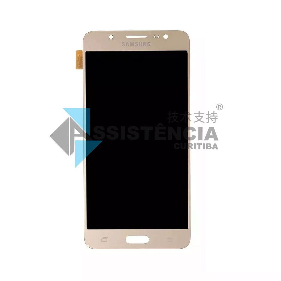 Tela Display Samsung Galaxy J5 J510 Metal 2016 Sm-J510Mm Com Brilho Dourado