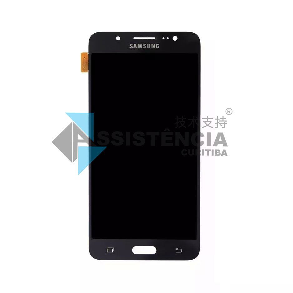 Tela Display Samsung Galaxy J5 J510 Metal 2016 Sm-J510Mm Com Brilho Preto