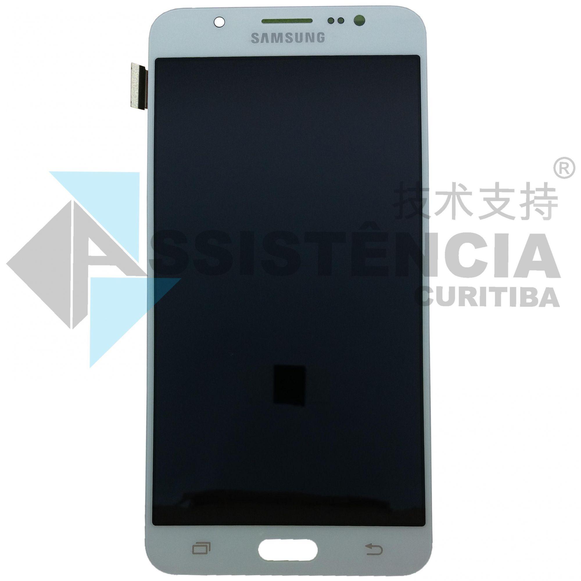 Tela Display Samsung Galaxy J7 J710 Metal Com Brilho Branco