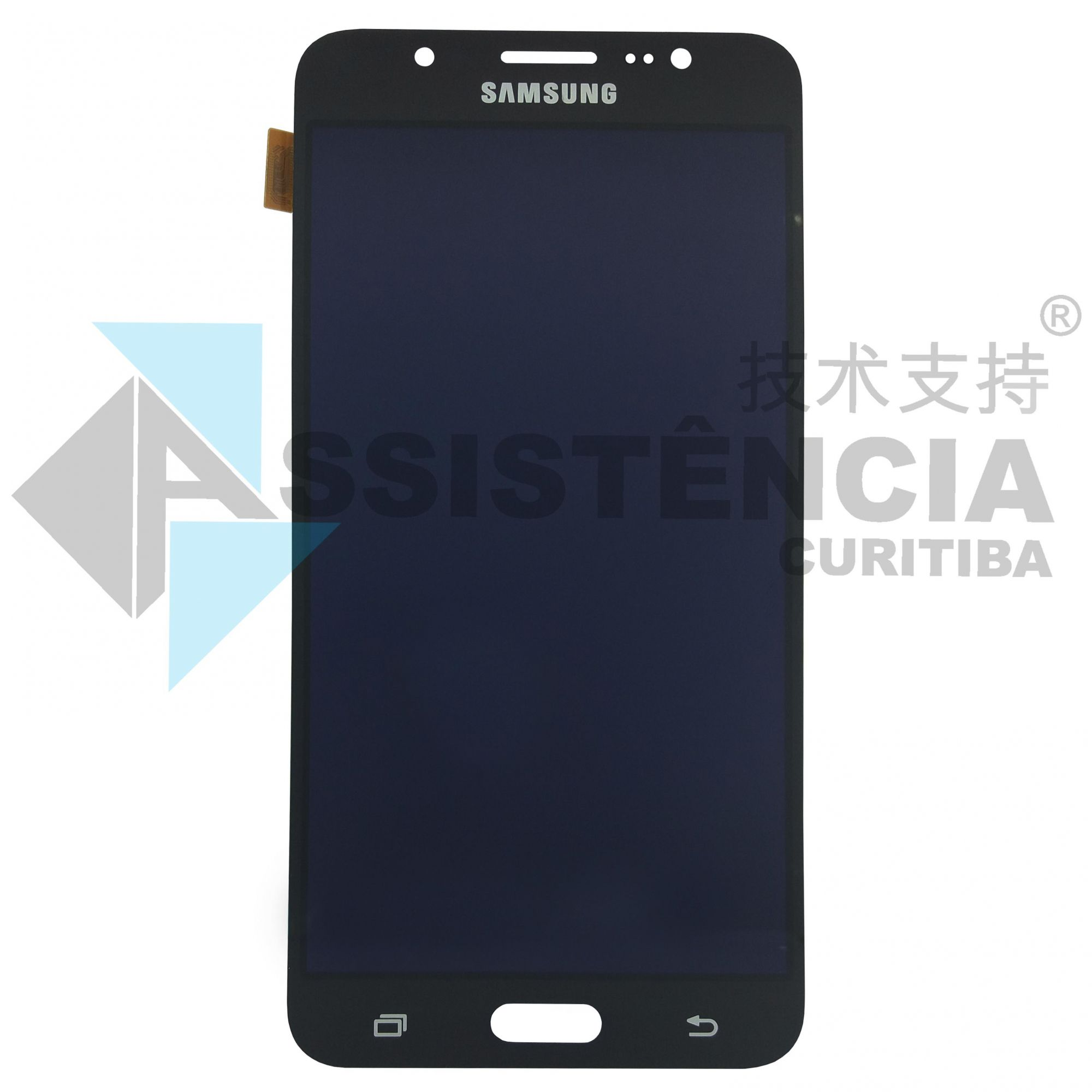 Tela Display Samsung Galaxy J7 J710 Metal Com Brilho Preto