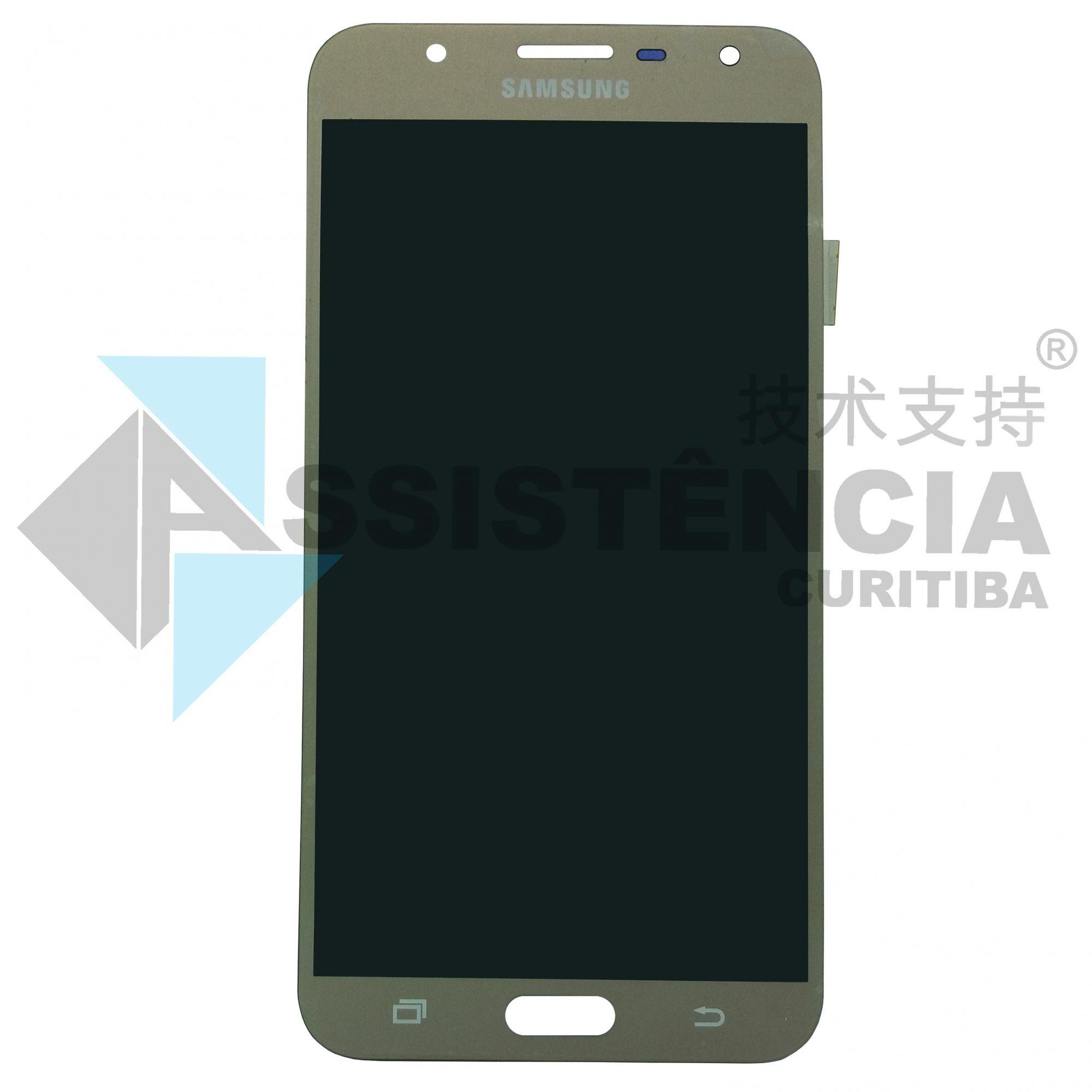 Tela Display Samsung Galaxy J7 Neo J701 Com Brilho Dourado