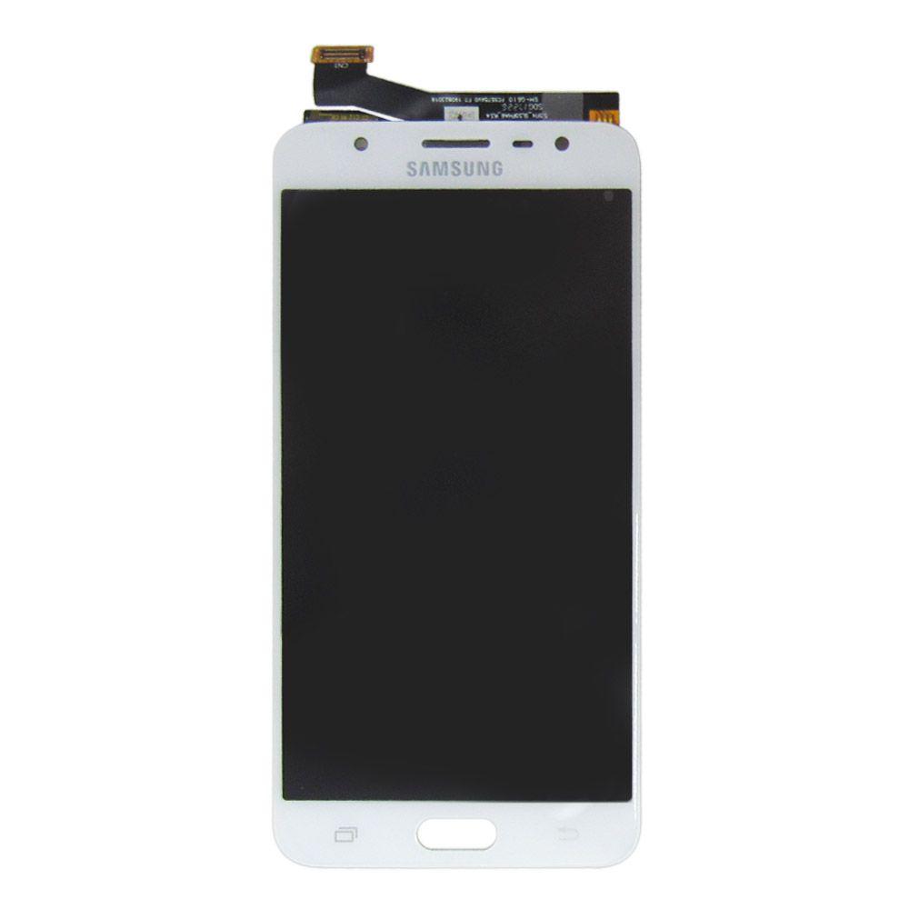 Tela Display Samsung Galaxy J7 Prime Sm-G610 Branco Original Ch