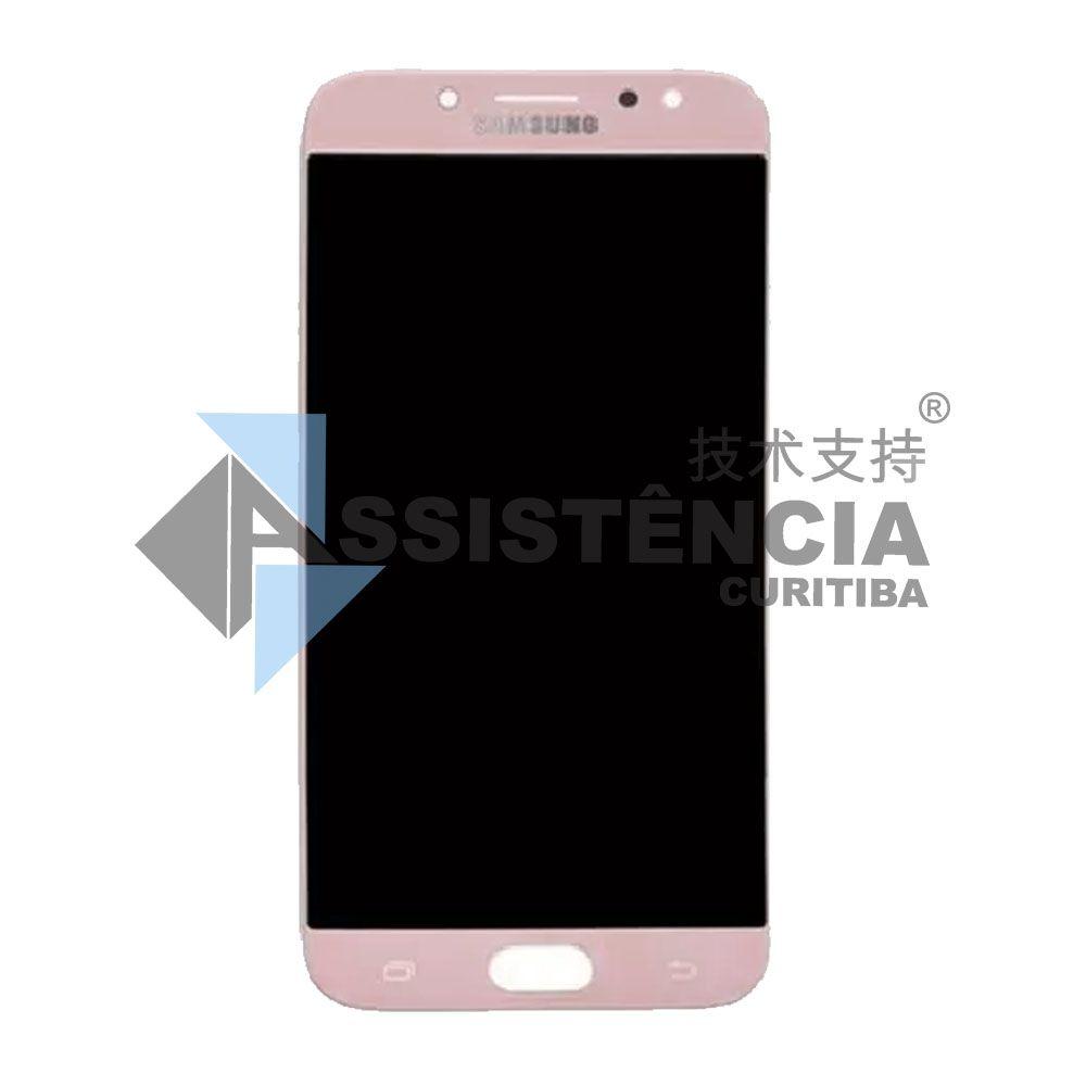 Tela Display Samsung Galaxy J7 Pro J730 Com Brilho Rosa