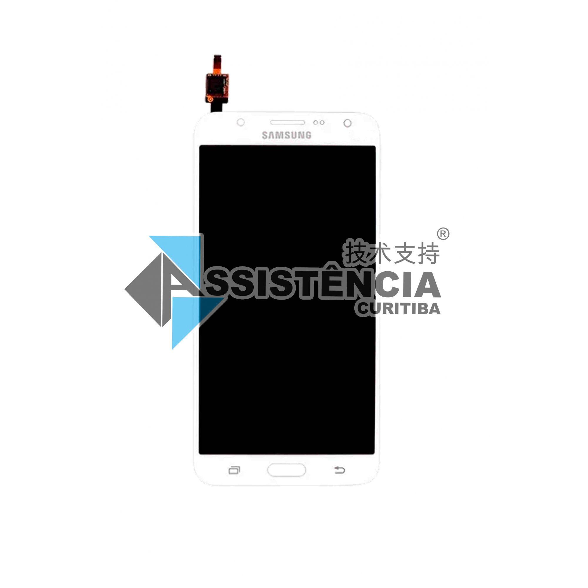 Tela Display Samsung Galaxy J7 Sm-J700 Com Brilho Branco