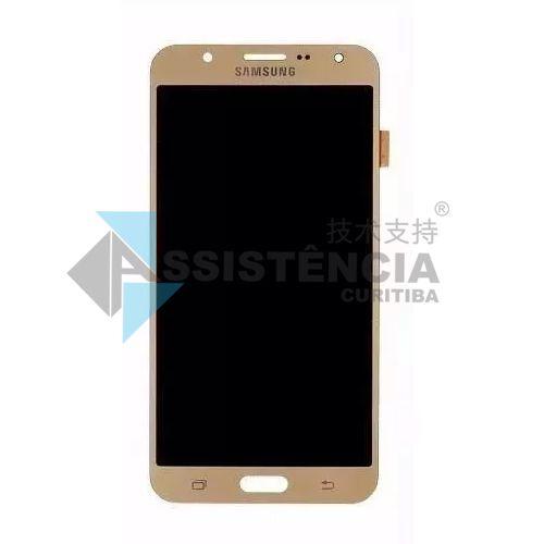 Tela Display Samsung Galaxy J7 Sm-J700 Com Brilho Dourado