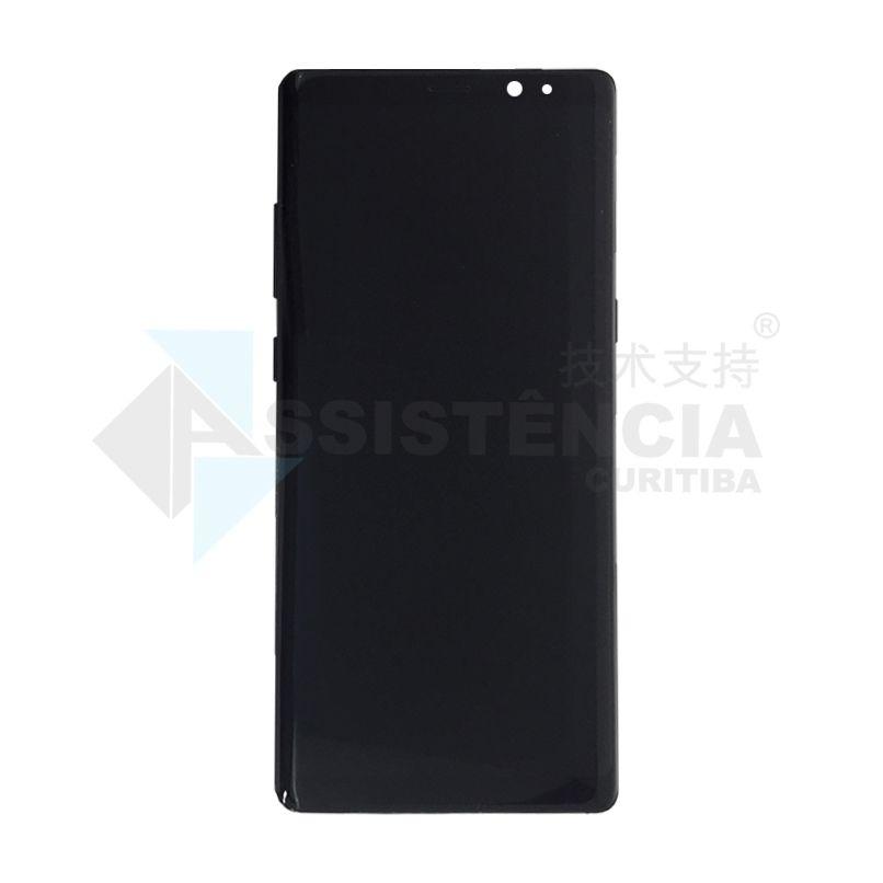 Tela Display Samsung Galaxy Note 8 N950 Com Aro Preto Original Retirada