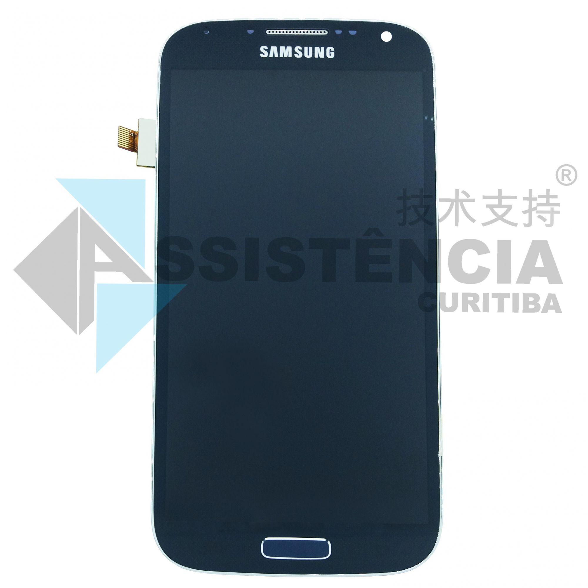 Tela Display Samsung Galaxy S4 Gt-I9505 Gt-I9515 Com Aro Com Brilho Azul
