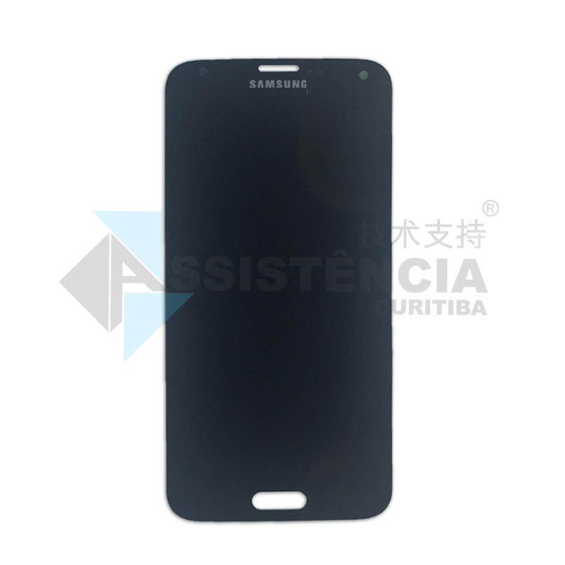 Tela Display Samsung Galaxy S5 I9600 G900 Sm-G900M Com Brilho Preto