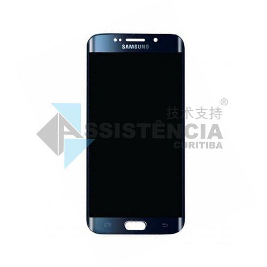 Tela Display Samsung Galaxy S6 Edge G925 Original Retirada Azul