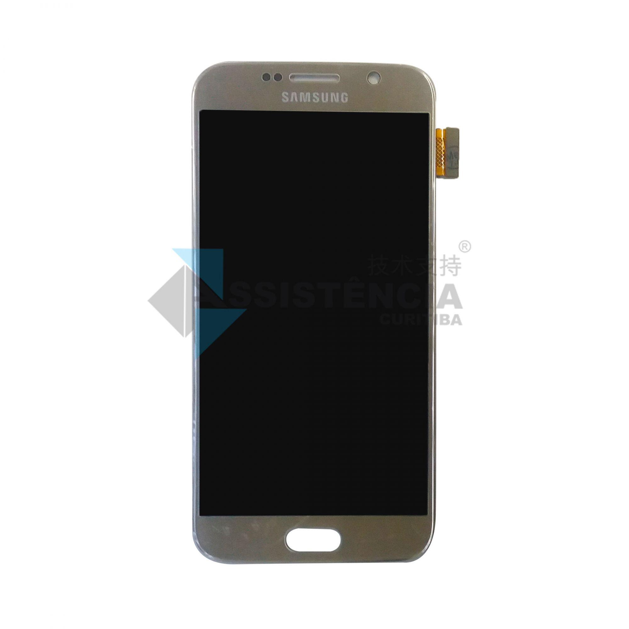Tela Display Samsung Galaxy S6 G920 Original Ch Dourado