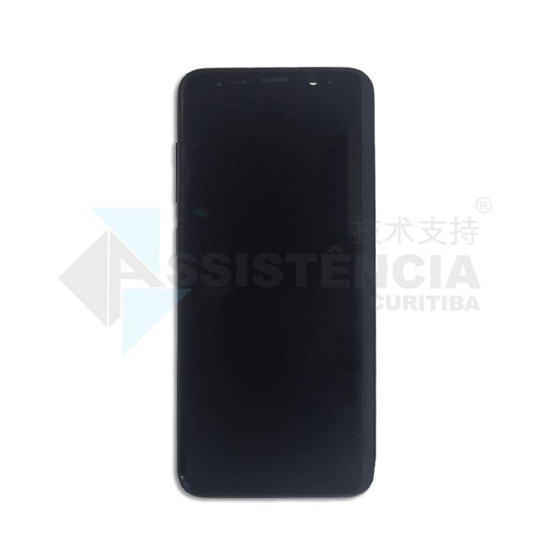 Tela Display Samsung Galaxy S8 G950 Com Aro Preta Original Retirada