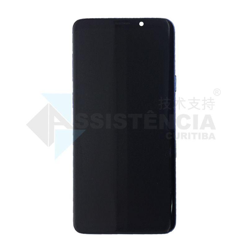 Tela Display Samsung Galaxy S9 Plus S9+ Sm-G965 Com Aro Azul Original Retirada