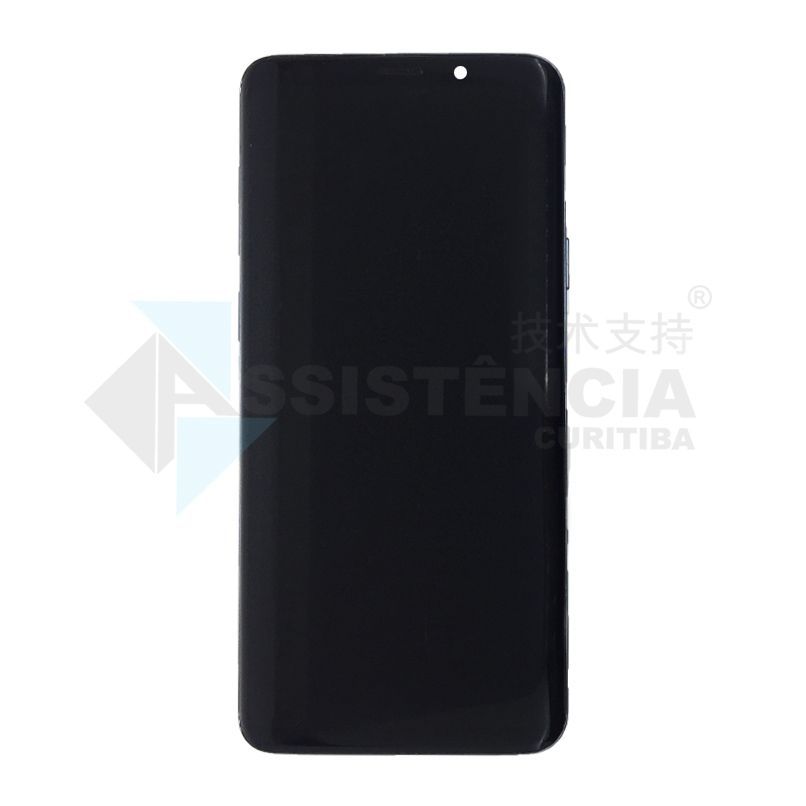 Tela Display Samsung Galaxy S9 Plus S9+ Sm-G965 Com Aro Cinza Original Retirada