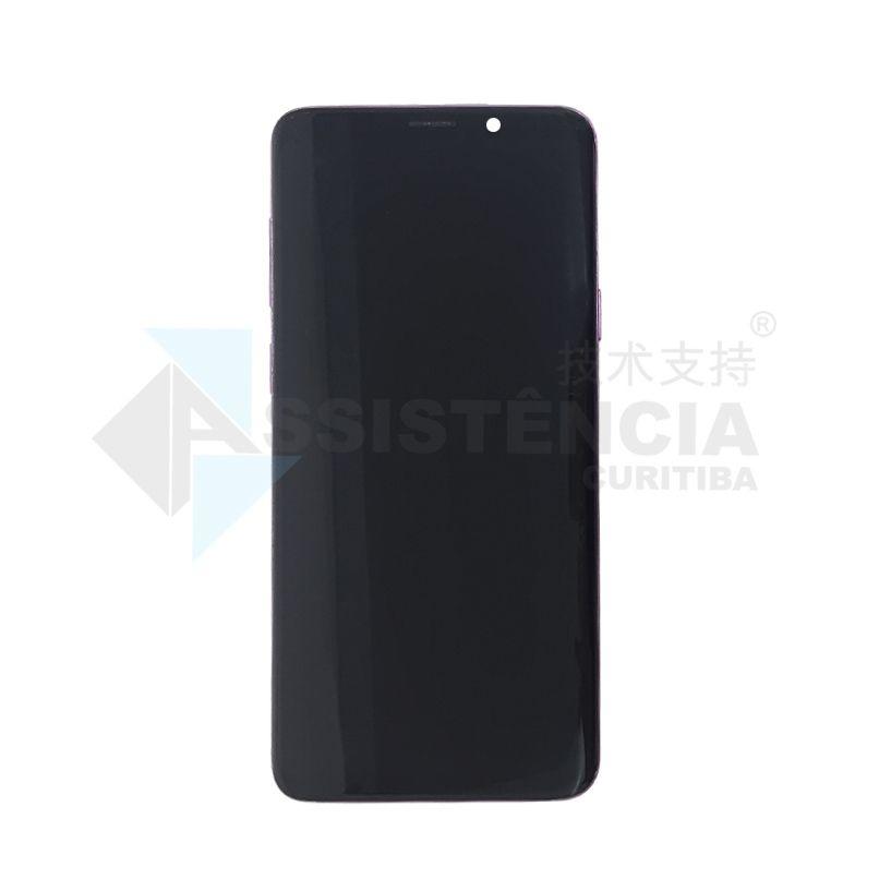Tela Display Samsung Galaxy S9 Plus S9+ Sm-G965 Com Aro Rosa Original Retirada