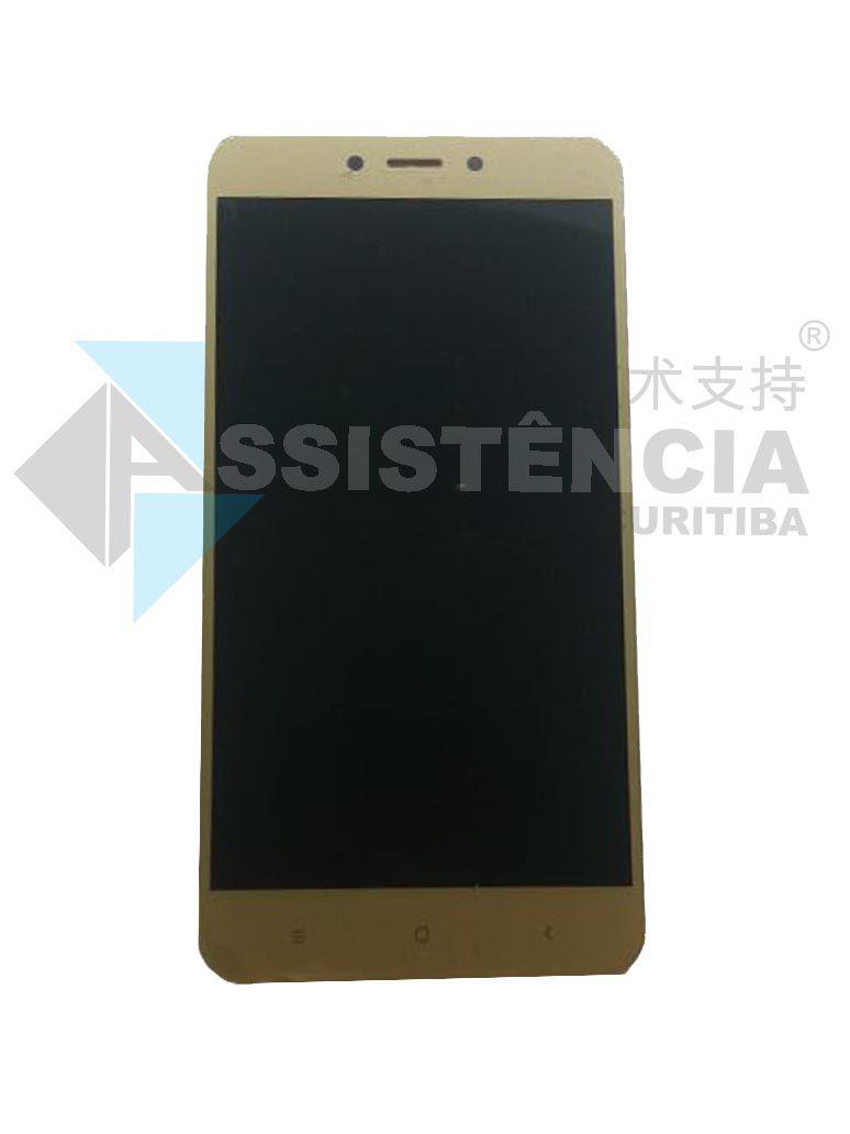 Tela Display Xiaomi Redmi 4 (4X) Mag138 Dourada