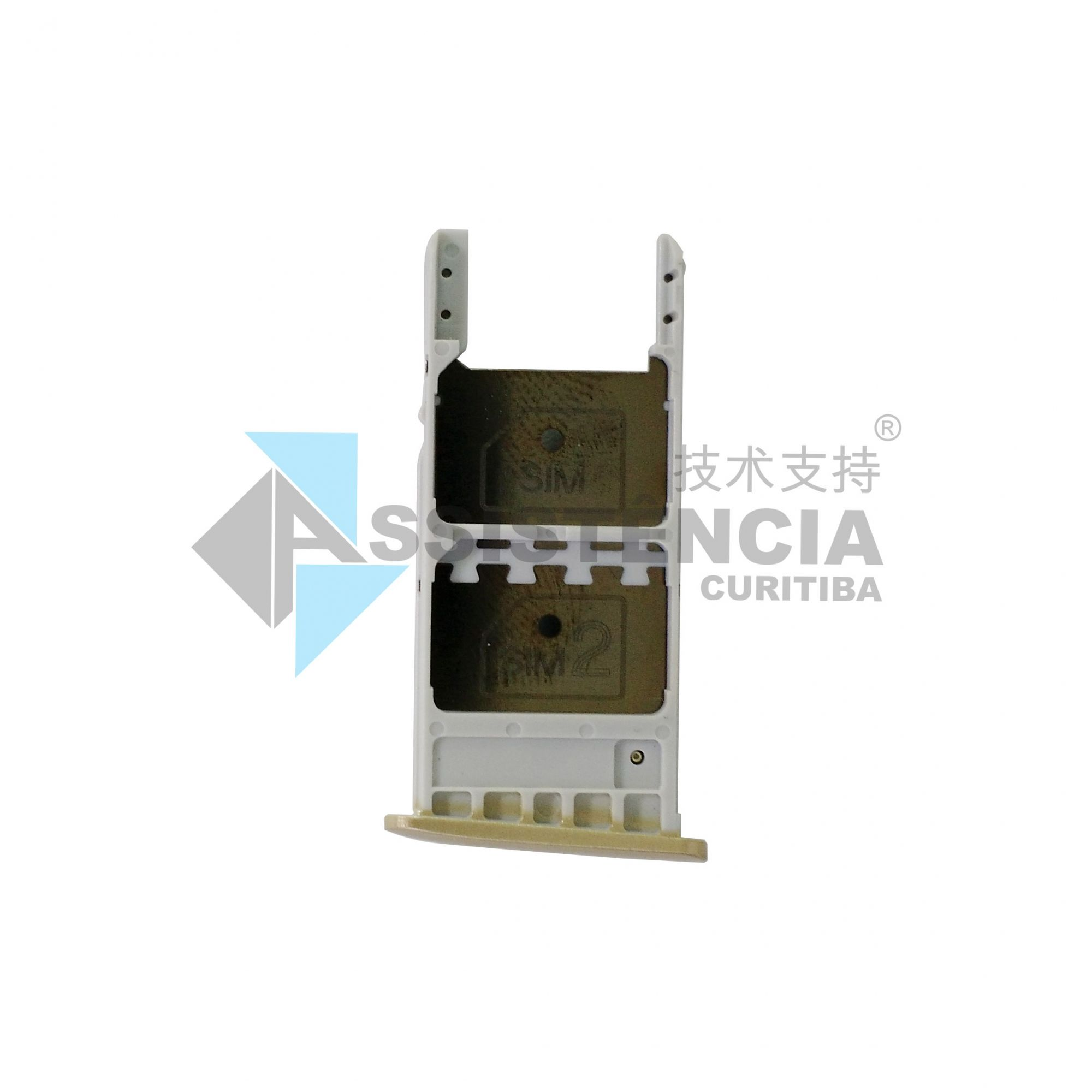 Gaveta Chip Motorola Moto G5 Plus Xt1681 Xt1683 Dourado