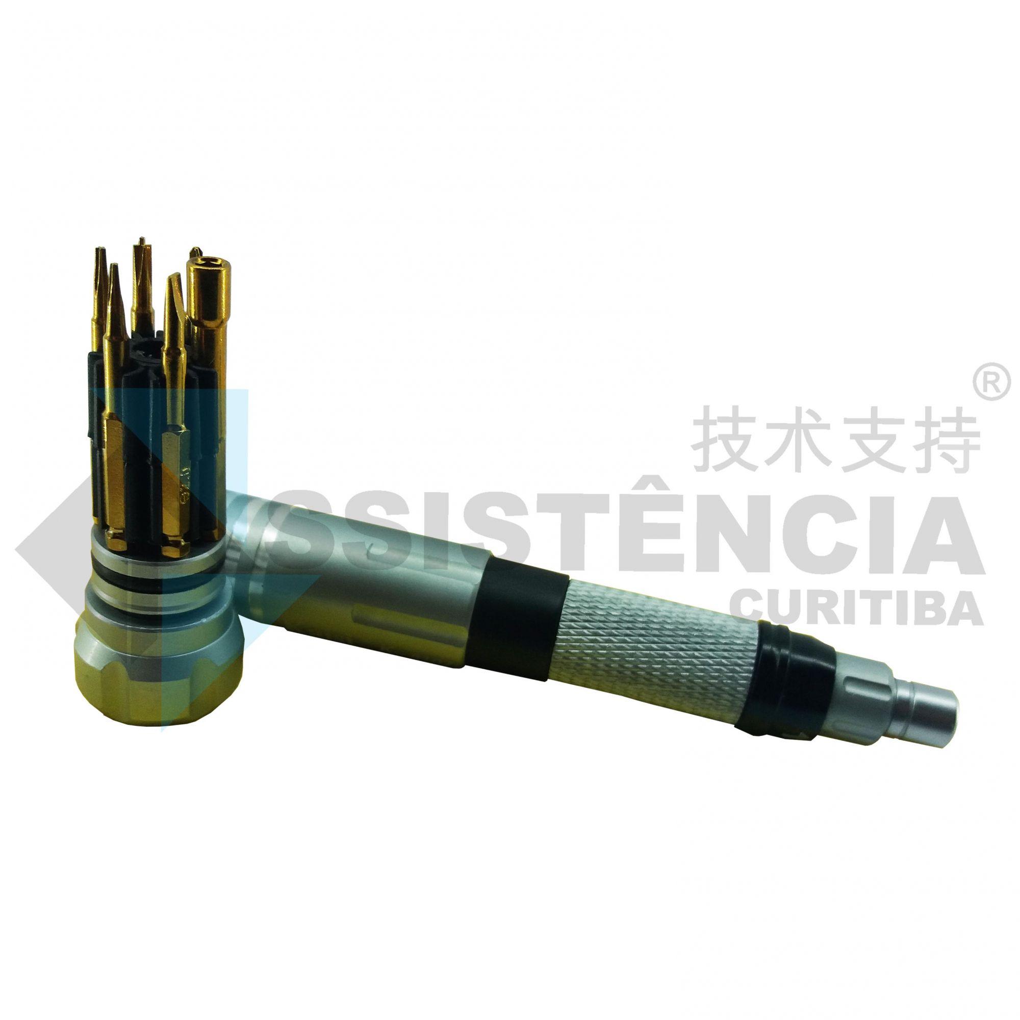 Kit De Chave Multifuncional 6 Em 1 Para Reparos Em Celulares E Outros Eletrônicos Kaisi K-8107 Prata