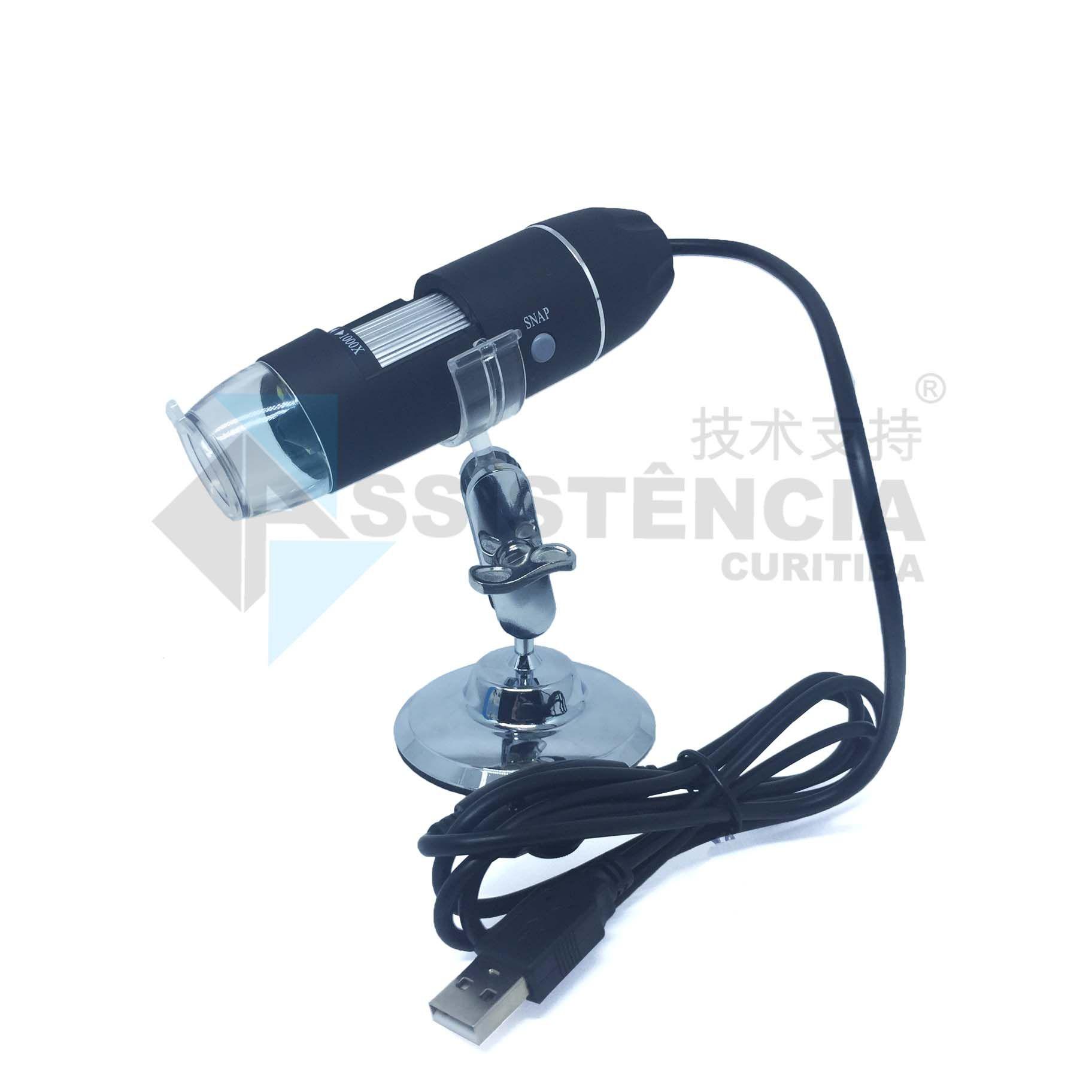 Microscópio Profissional Digital Usb Zoom 1000X