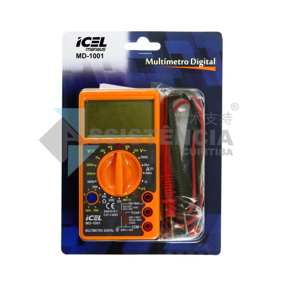 Multímetro Digital Icel Md-1001