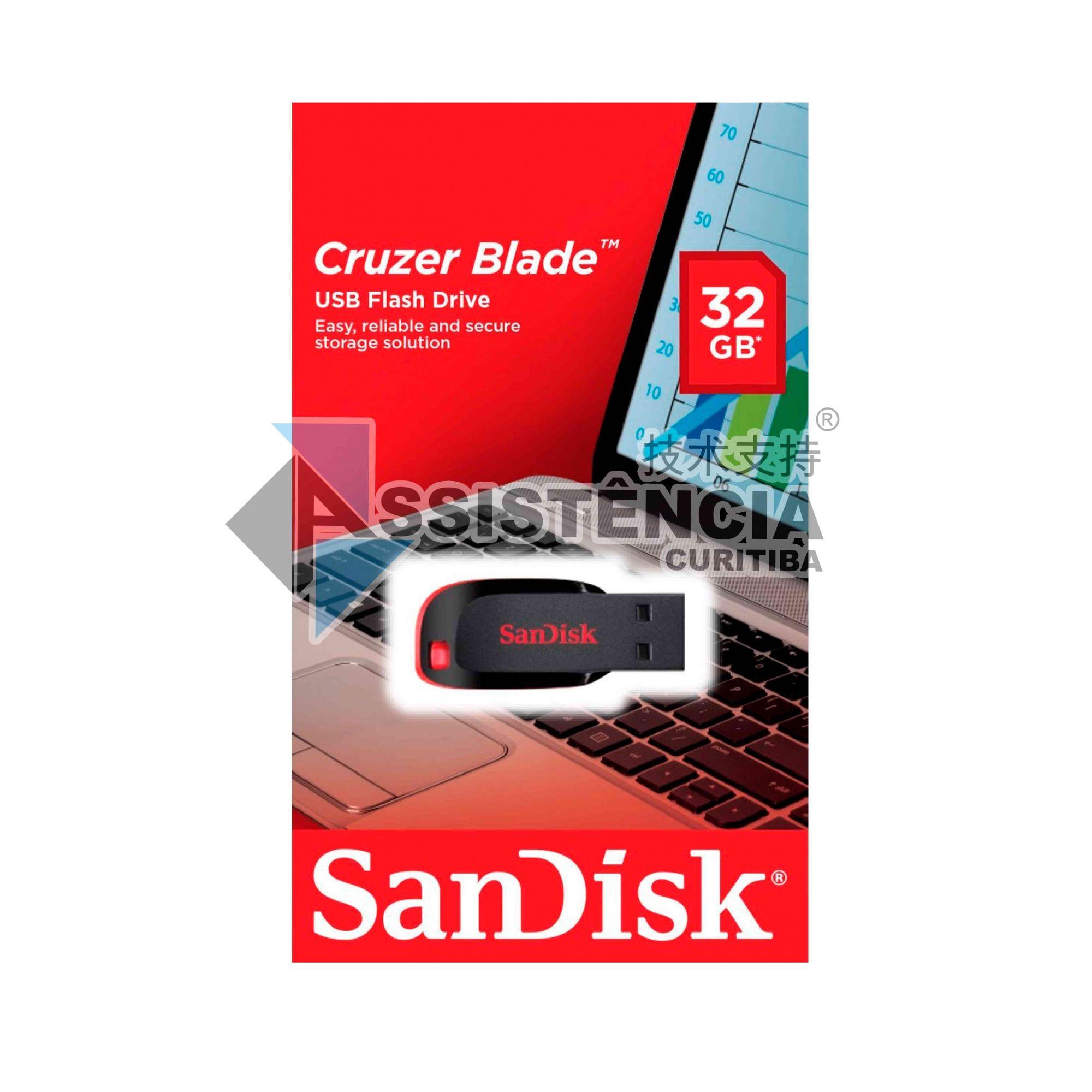 Pendrive Sandisk Cruzer Blade 32Gb Original