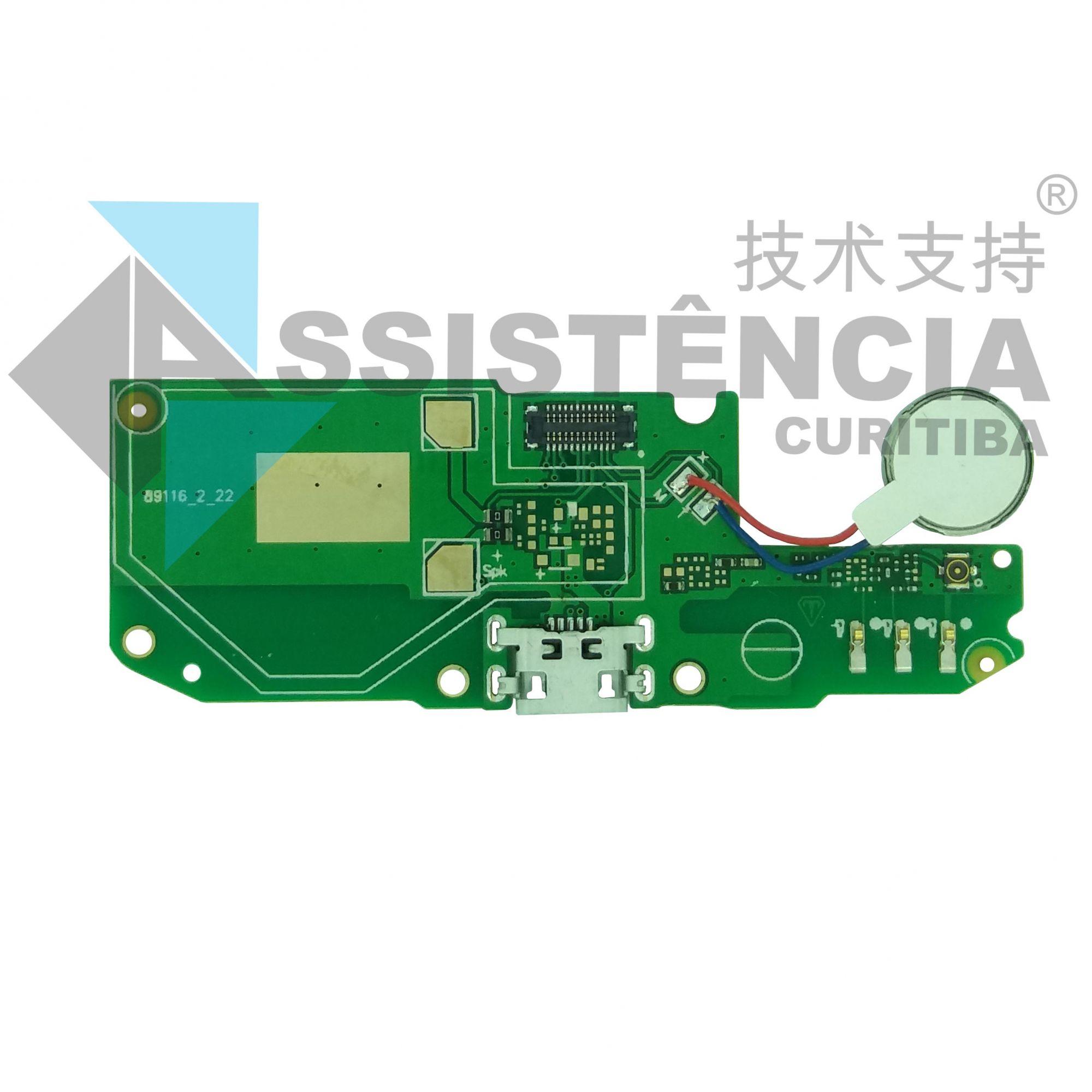 Placa Conector De Carga Com Mic Asus Zenfone Go Lte Zb500Kl X00Ad