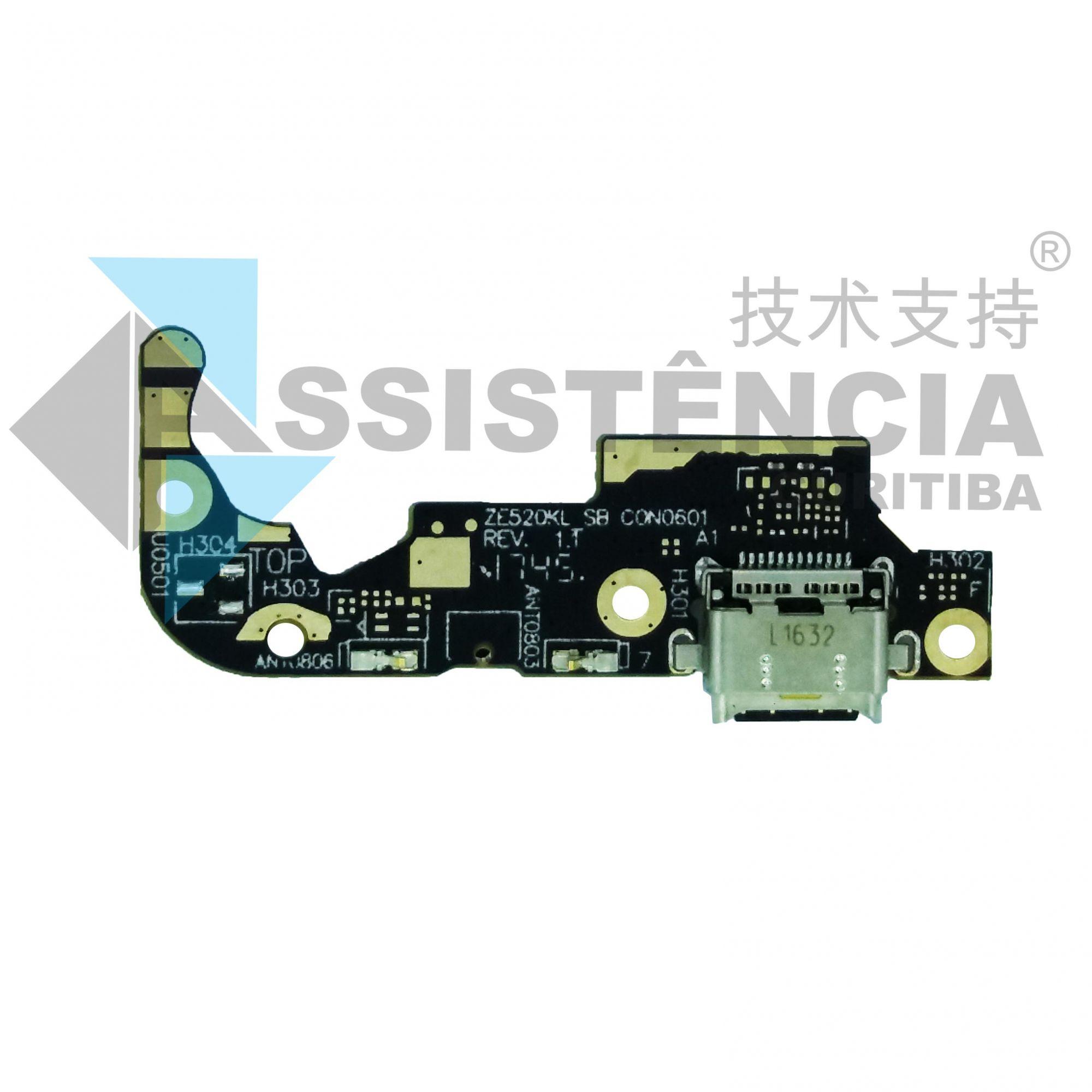 Placa Conector De Carga e Mic Asus Zenfone 3 Ze520Kl Z017D