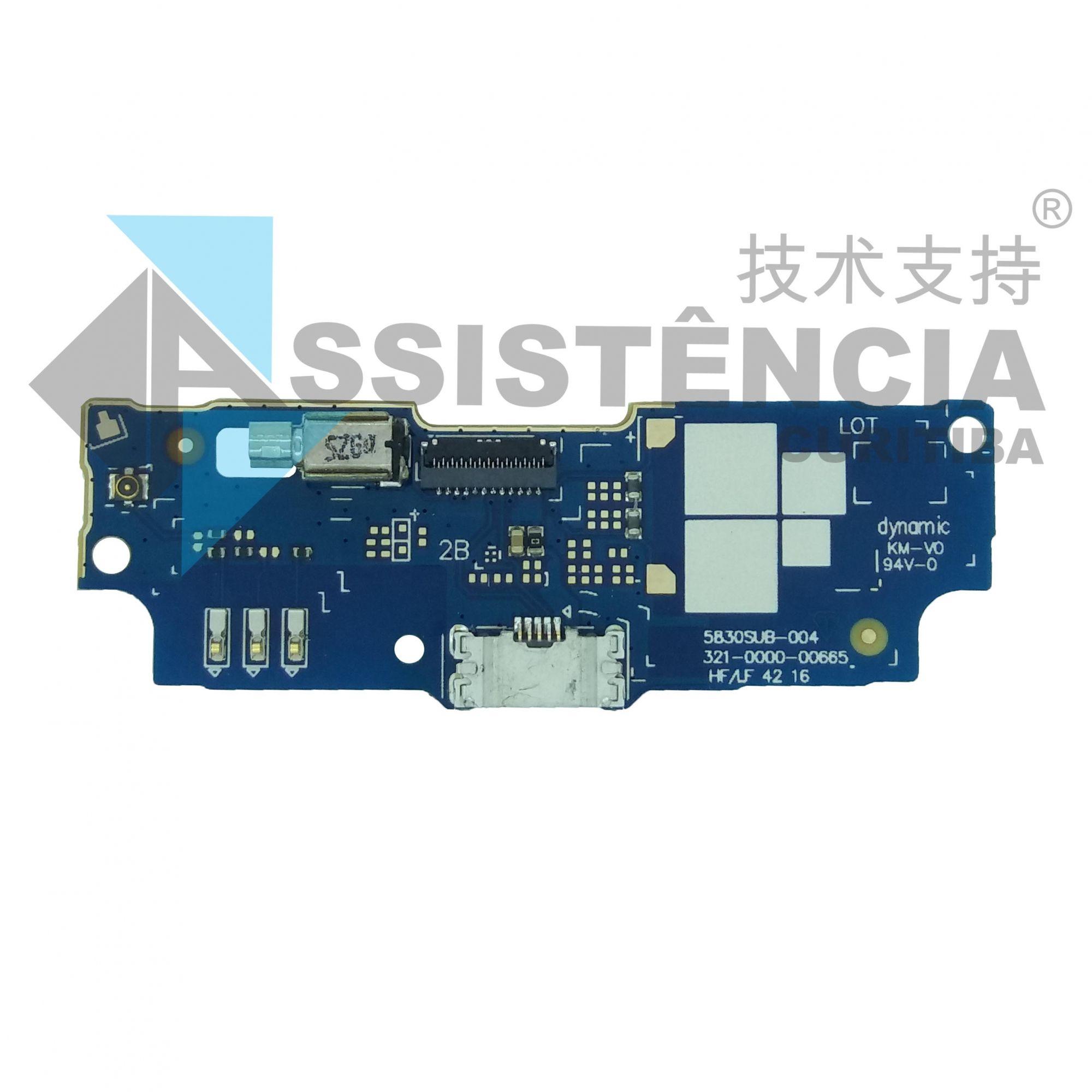 Placa Conector De Carga Microfone Asus Zenfone Go Live Zb551Kl