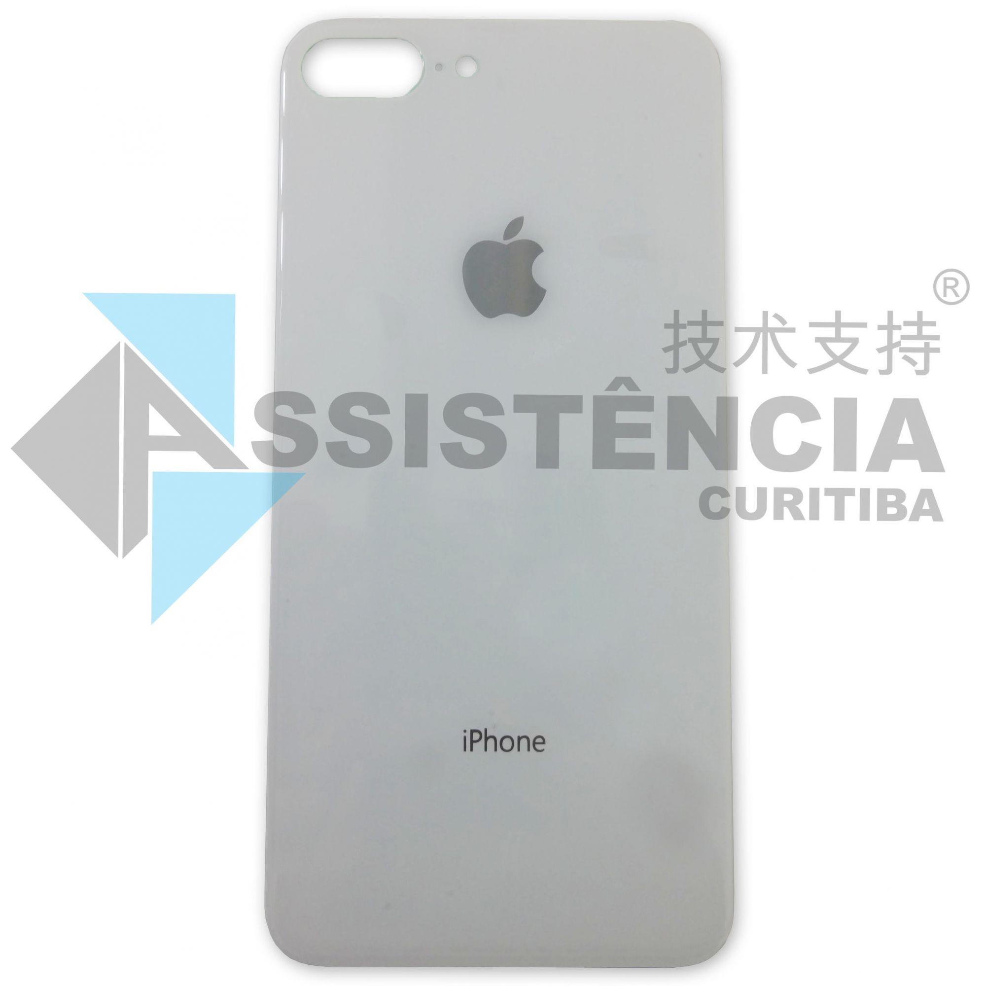 Tampa Traseira Apple Iphone 8 Plus De Vidro Branco