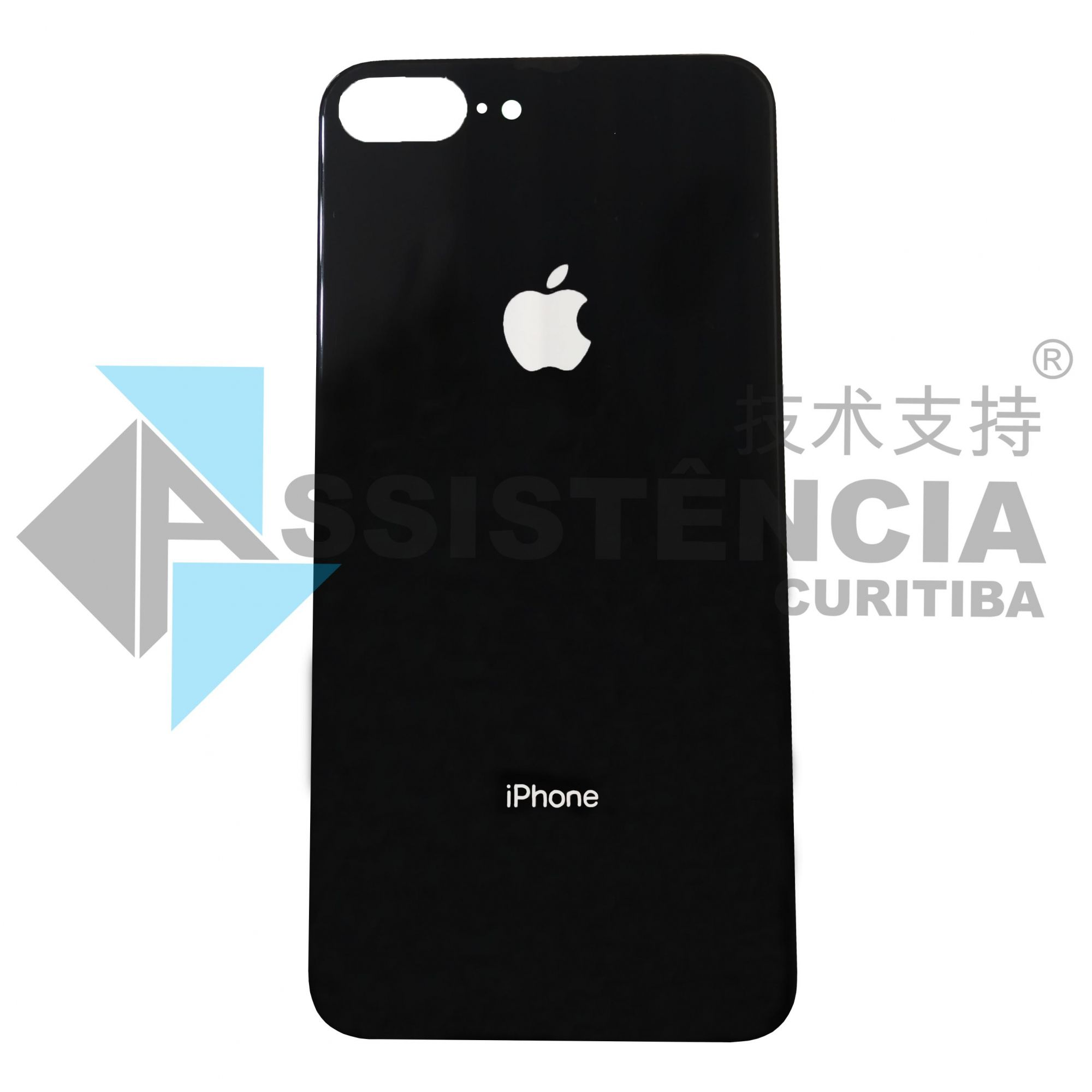 Tampa Traseira Apple Iphone 8 Plus De Vidro Preto Original