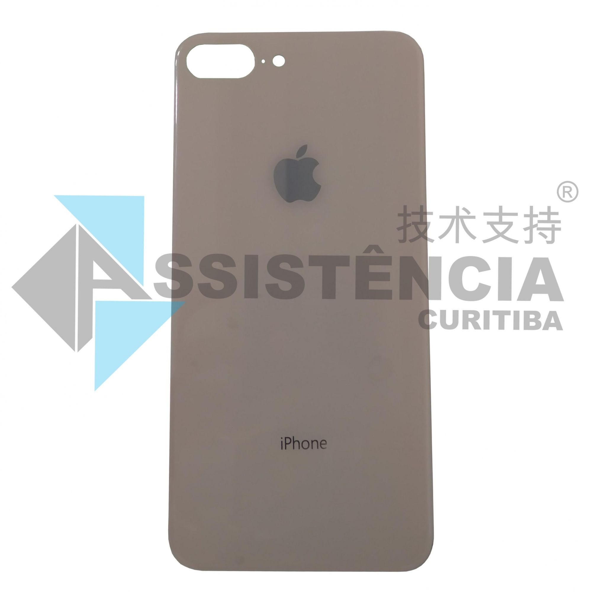 Tampa Traseira Apple Iphone 8 Plus De Vidro Rose