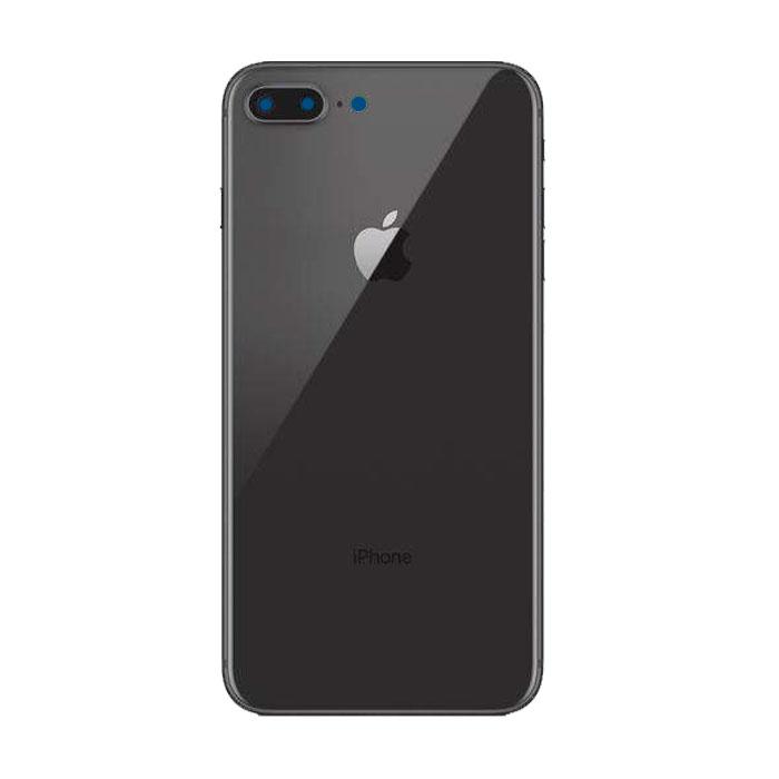 Tampa Traseira Apple Iphone 8 Plus De Vidro Preto Com Lente