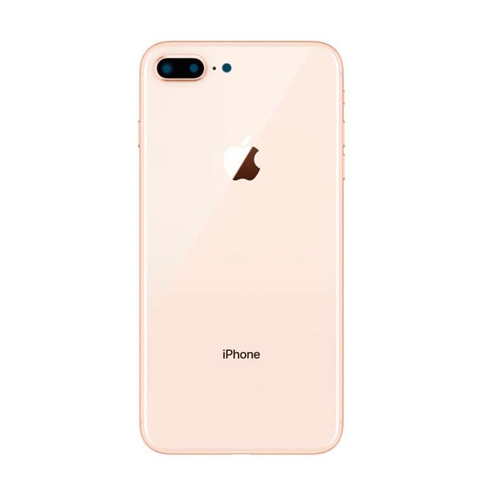 Tampa Traseira Apple Iphone 8 Plus De Vidro Rose Com Lente