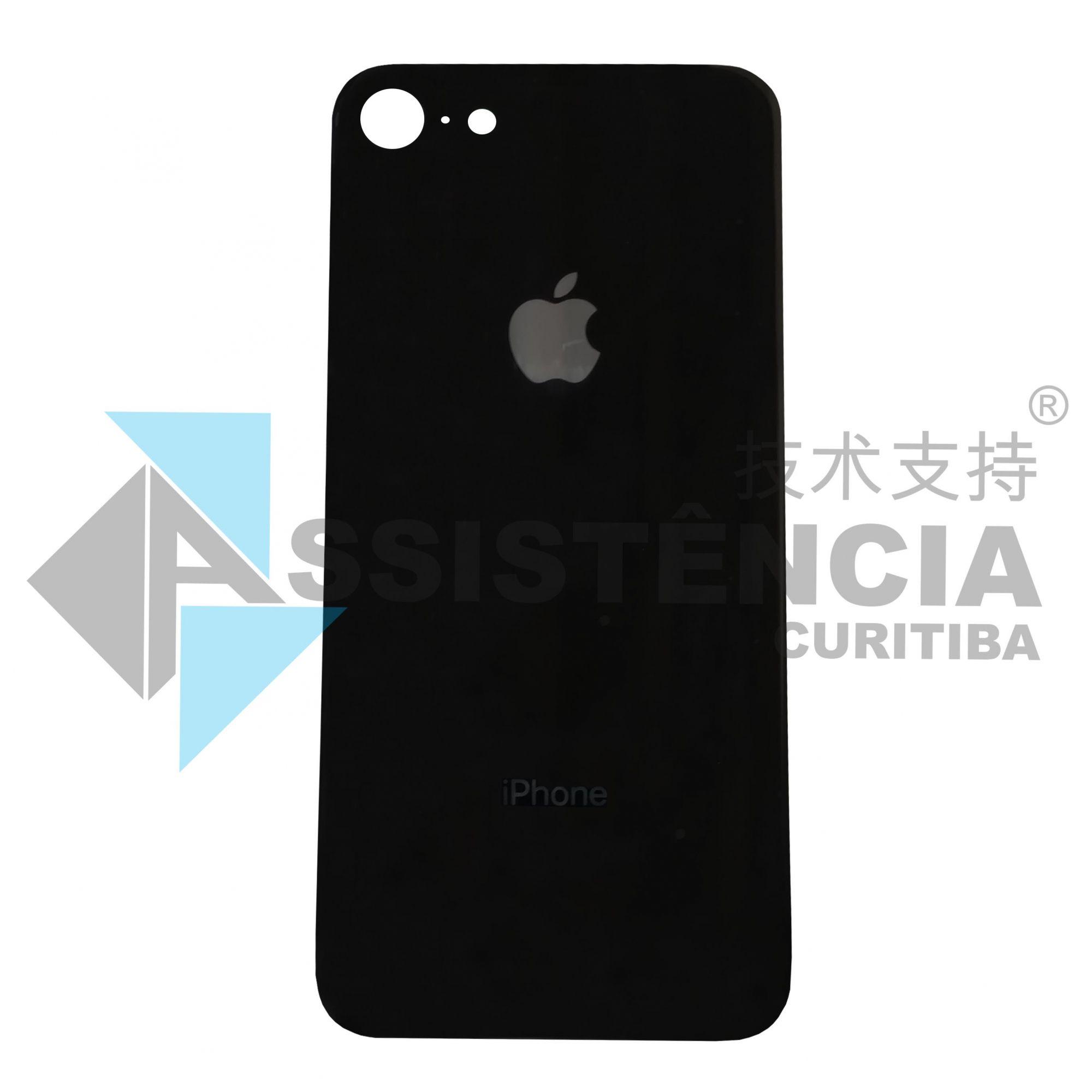 Tampa Traseira Apple Iphone 8G De Vidro Preto