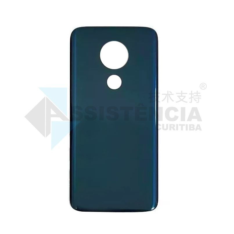 Tampa Traseira Motorola Moto G7 Power Xt1955 Azul Original