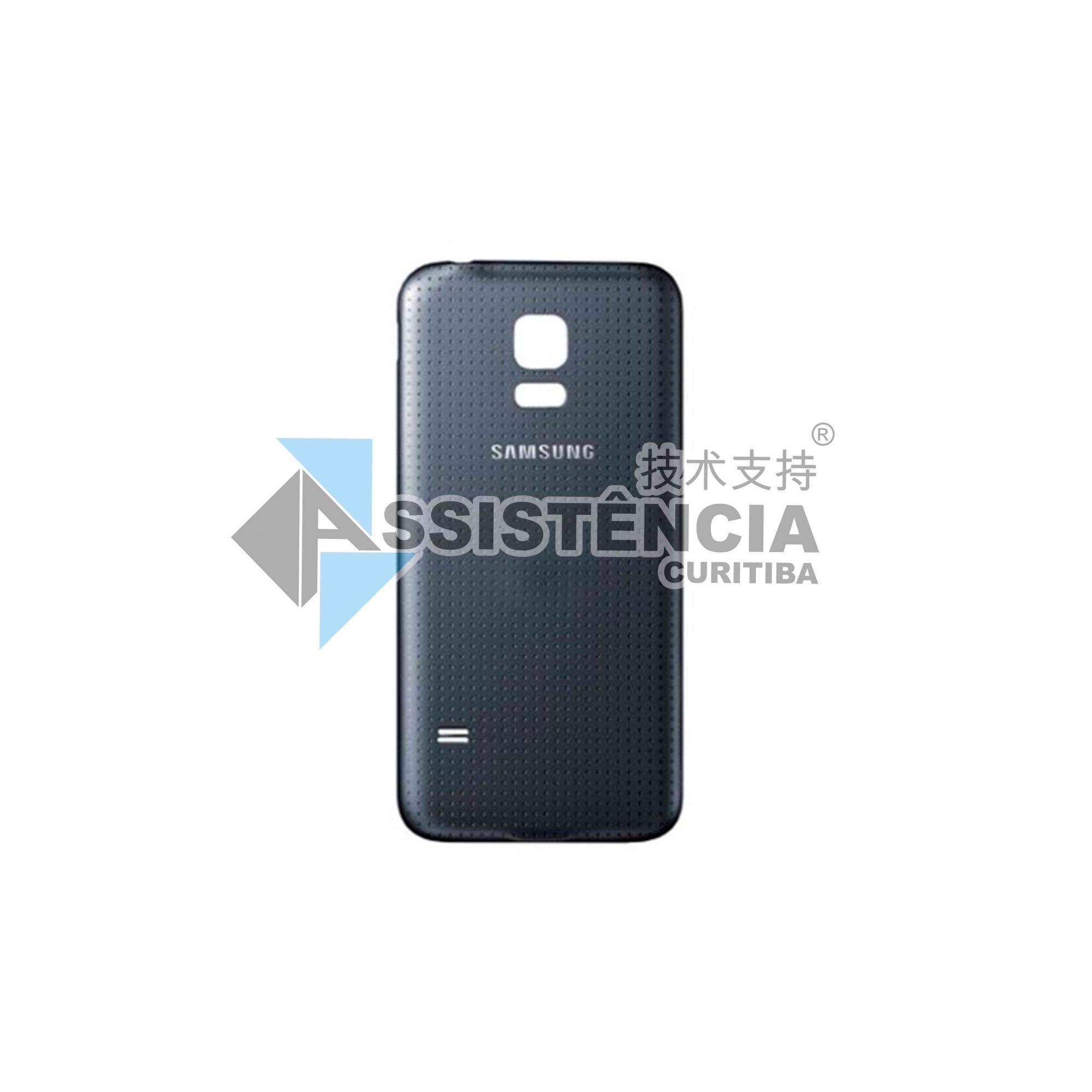 Tampa Traseira Samsung Galaxy S5 Gt-I9600 G900 G900M G900Md Preto