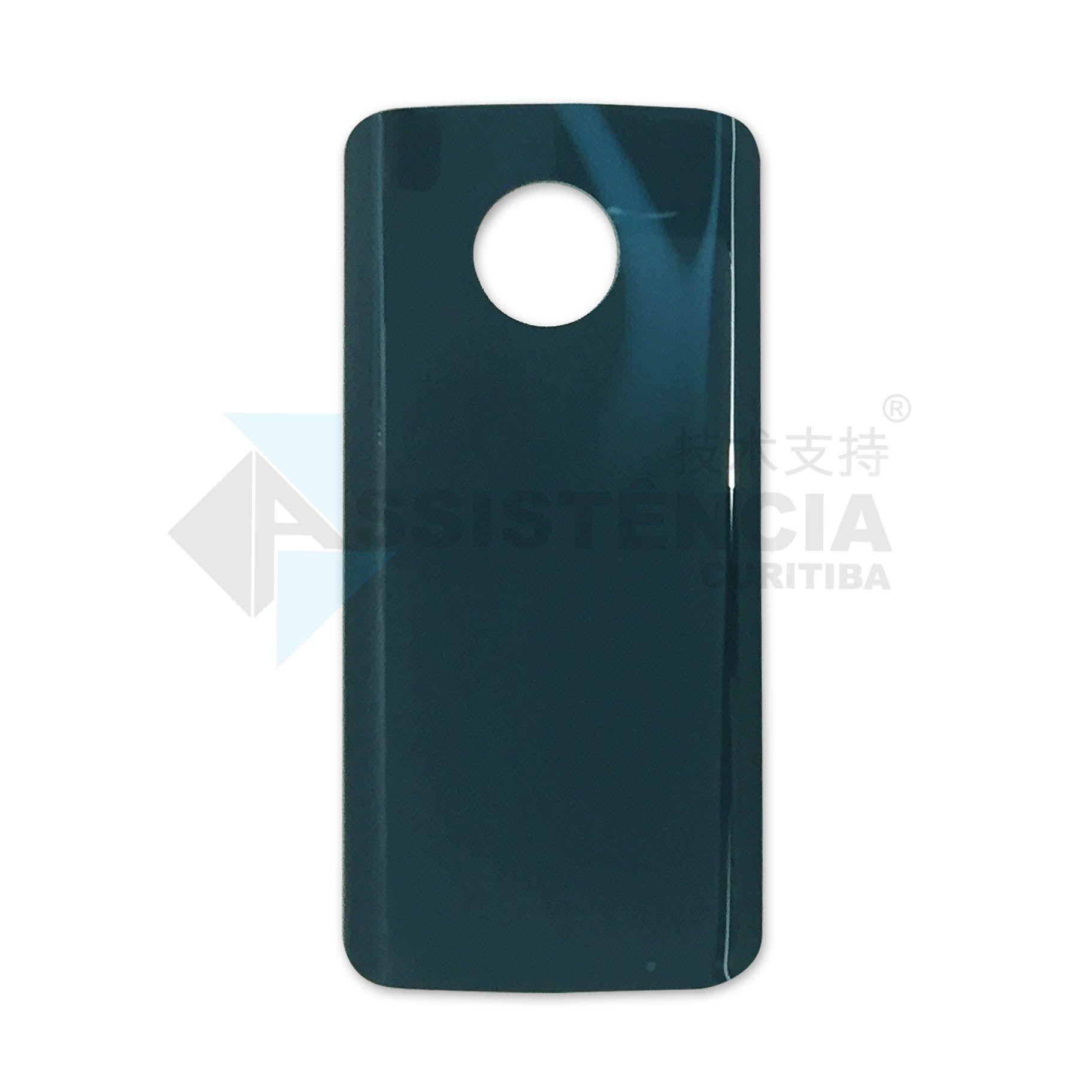 Tampa Traseira Motorola Moto G6 Plus Xt1926 Azul