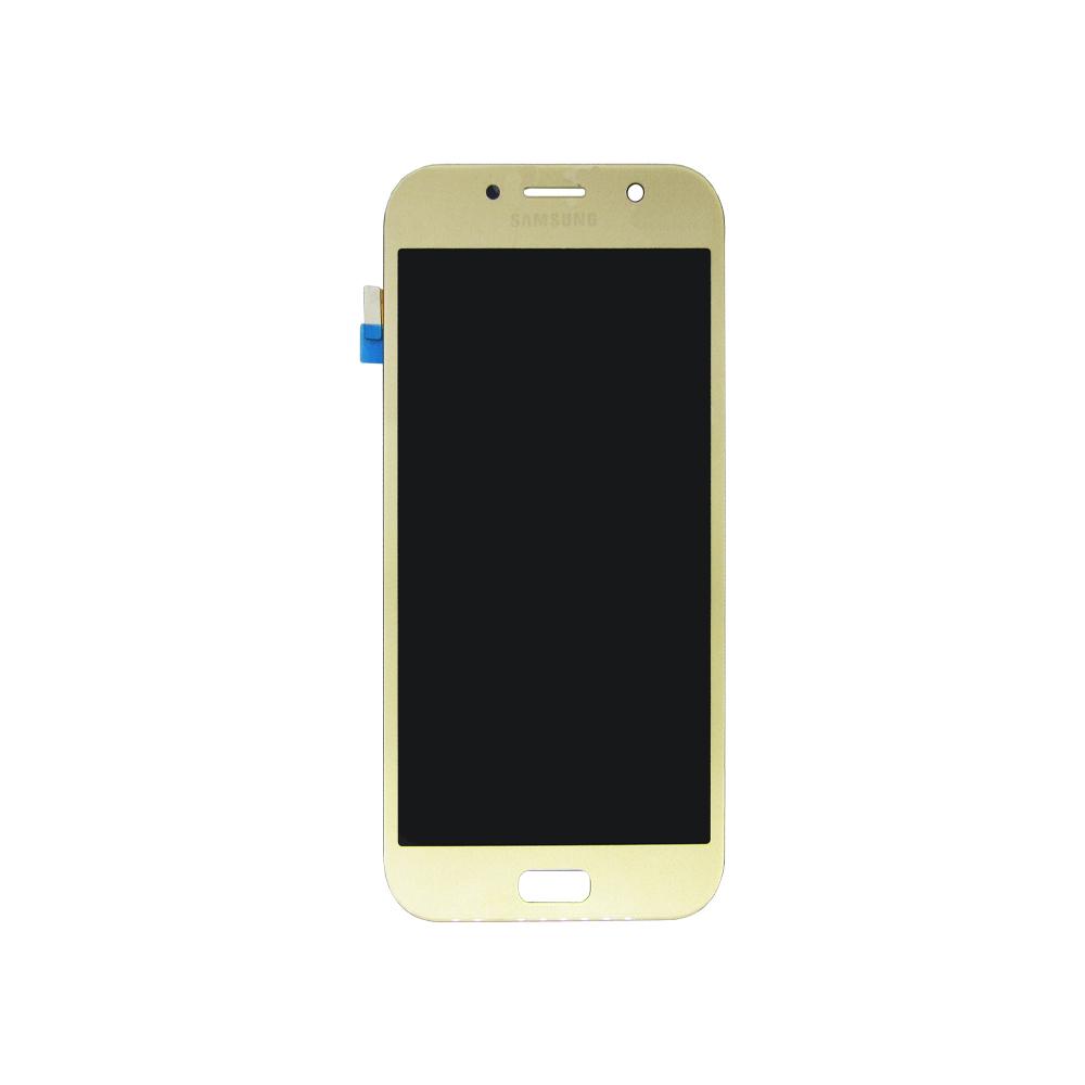 Tela Display Samsung A7 2017 A720 Original Ch Dourado