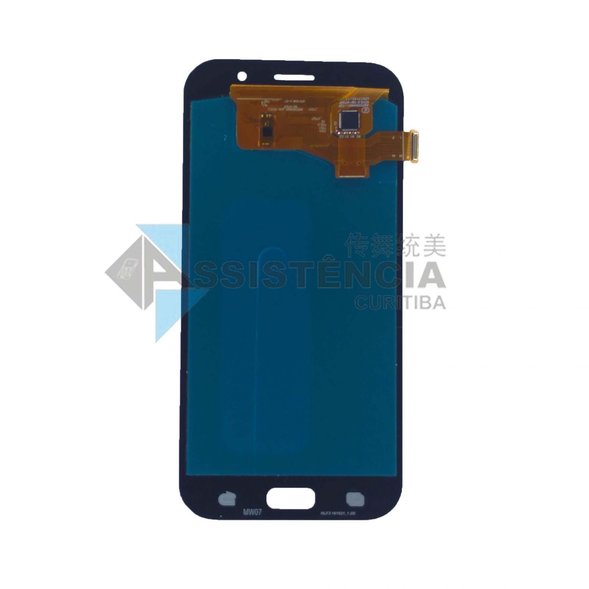 Tela Display Samsung A7 2017 A720 Original Ch Preto