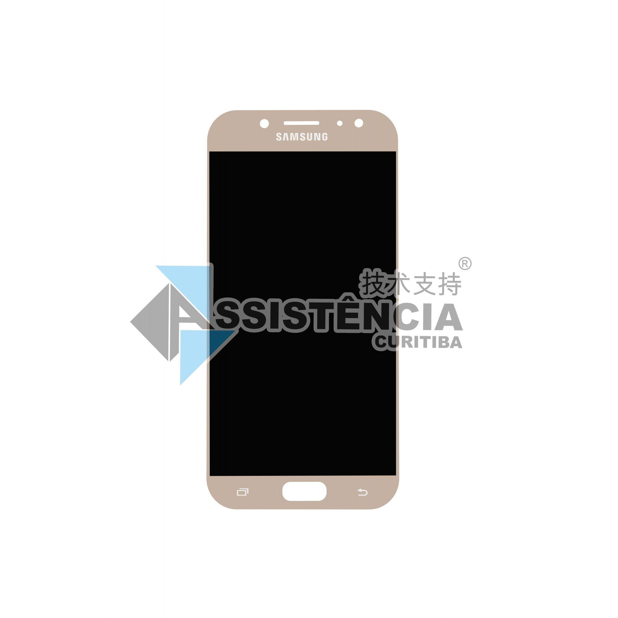 Tela Display Samsung Galaxy J5 Pro 2017 J530G/DS Original Ch Dourado