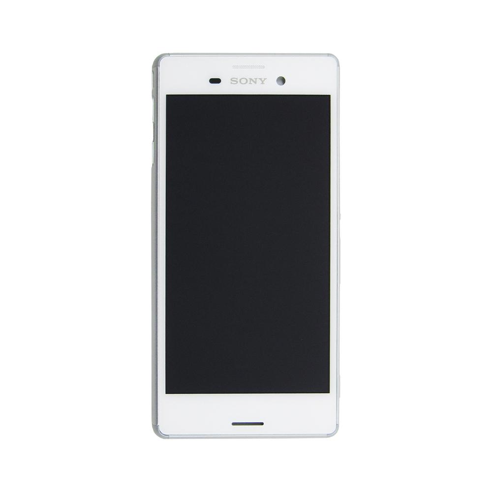 Tela Display Sony Xperia M4 Aqua E2363 E2303 Com Aro Branco