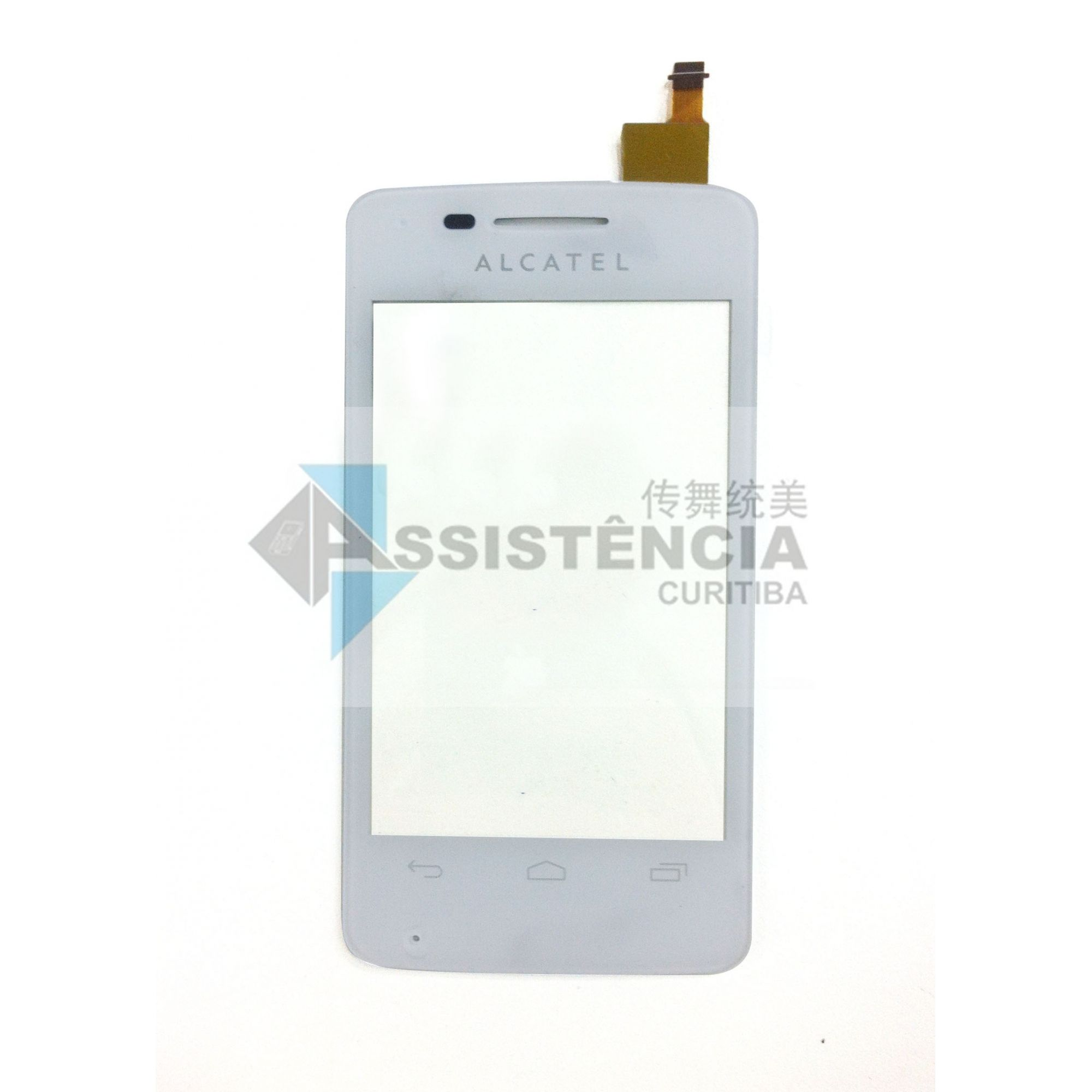 Tela Touch Alcatel One Touch 4007E Pixi Branco