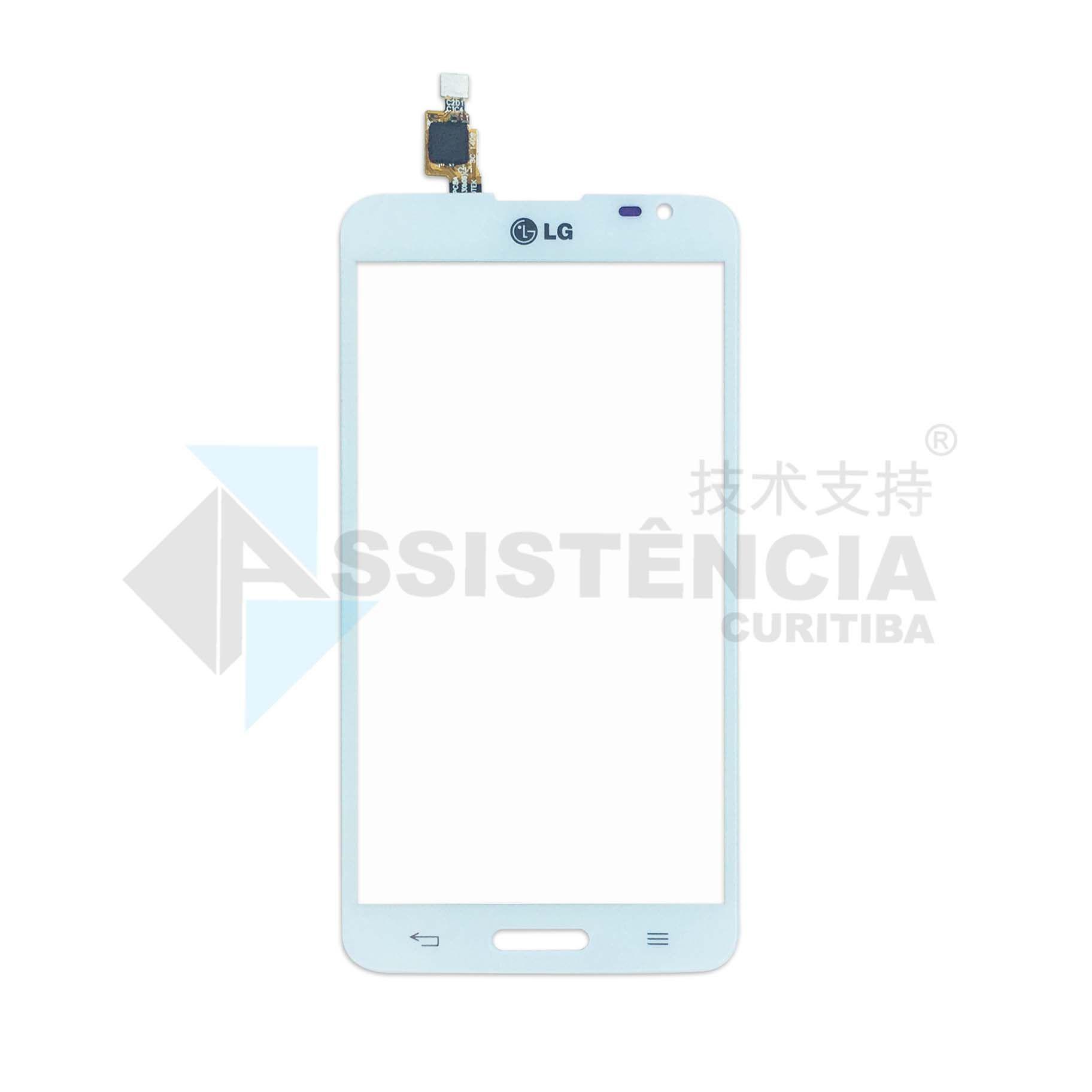 Tela Touch Lg G Pro Lite Dual D685 D686 D680 C/ Furo Branco