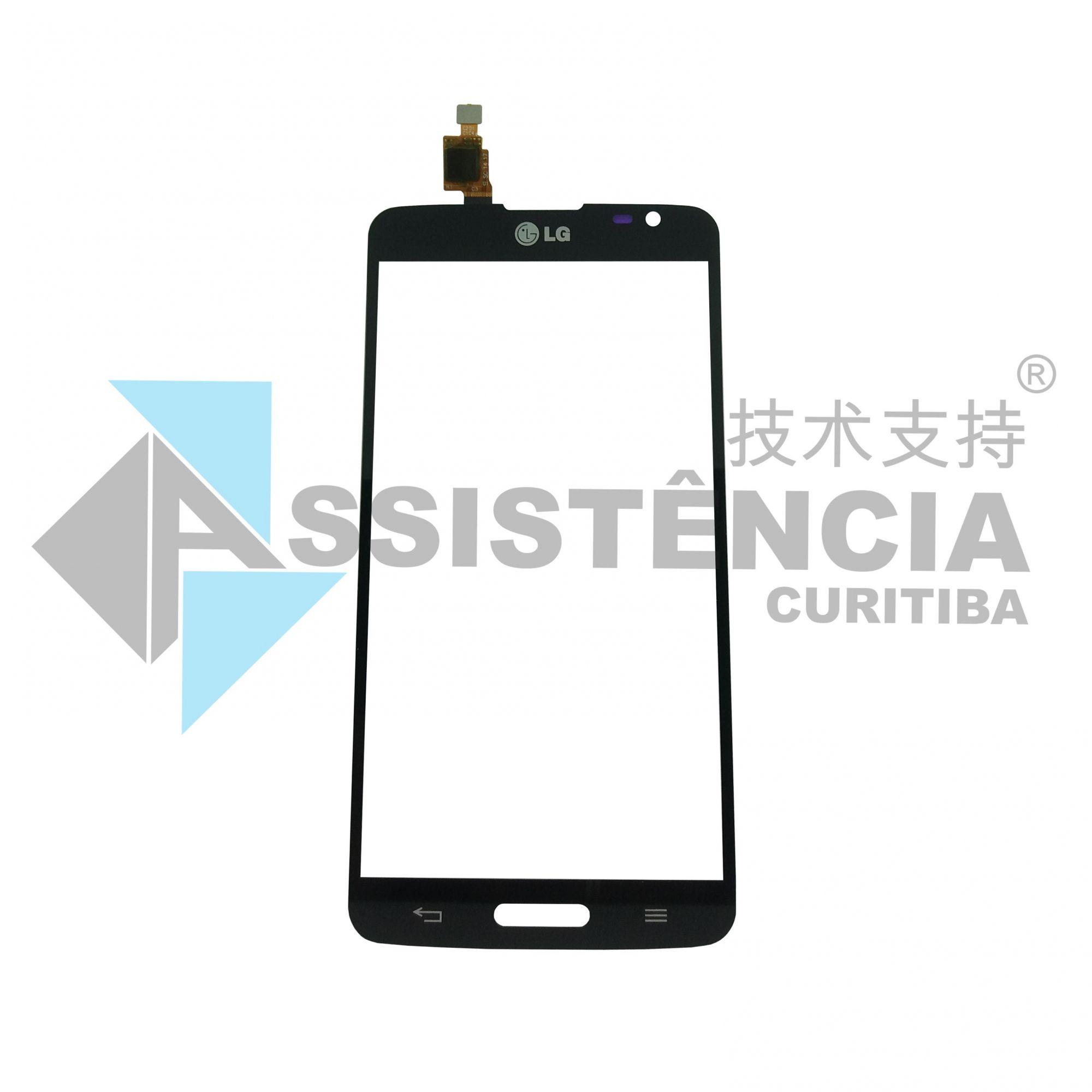 Tela Touch Lg G Pro Lite Dual D685 D686 D680 C/ Furo Preto