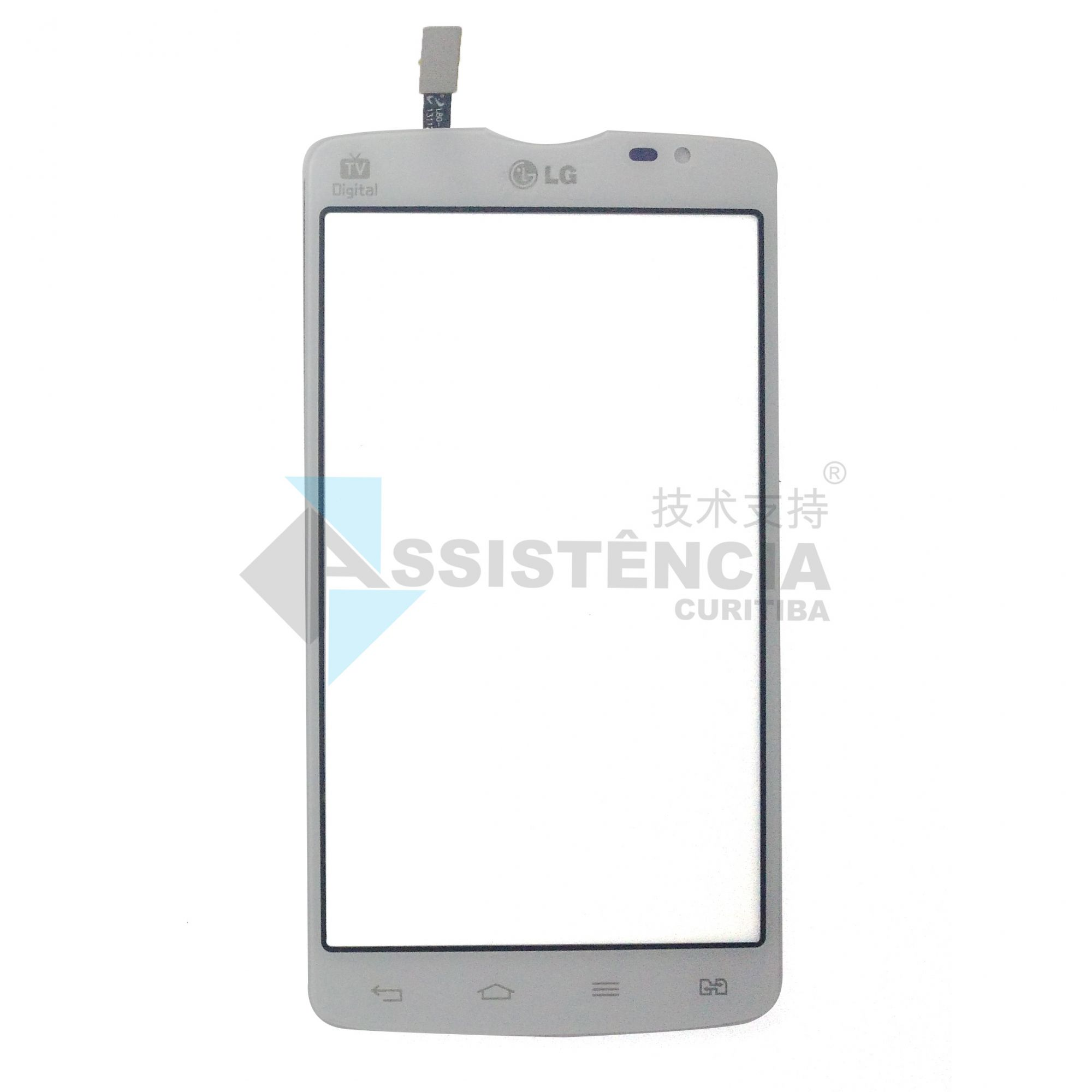 Tela Touch Lg L80 Dual 5.0 D380 D385 Branco