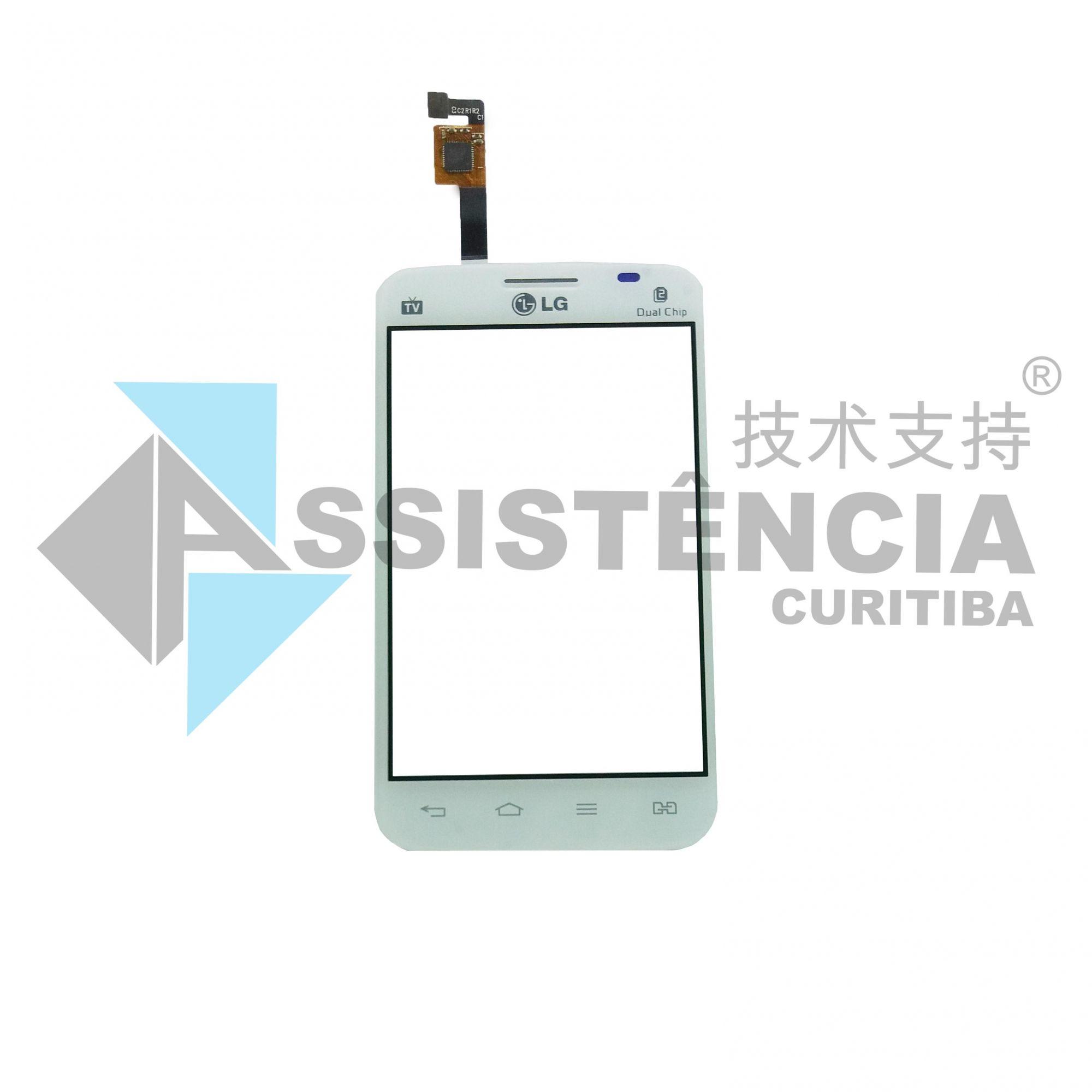 Tela Touch Lg Optimus L4 Dual E467 E470 Branco
