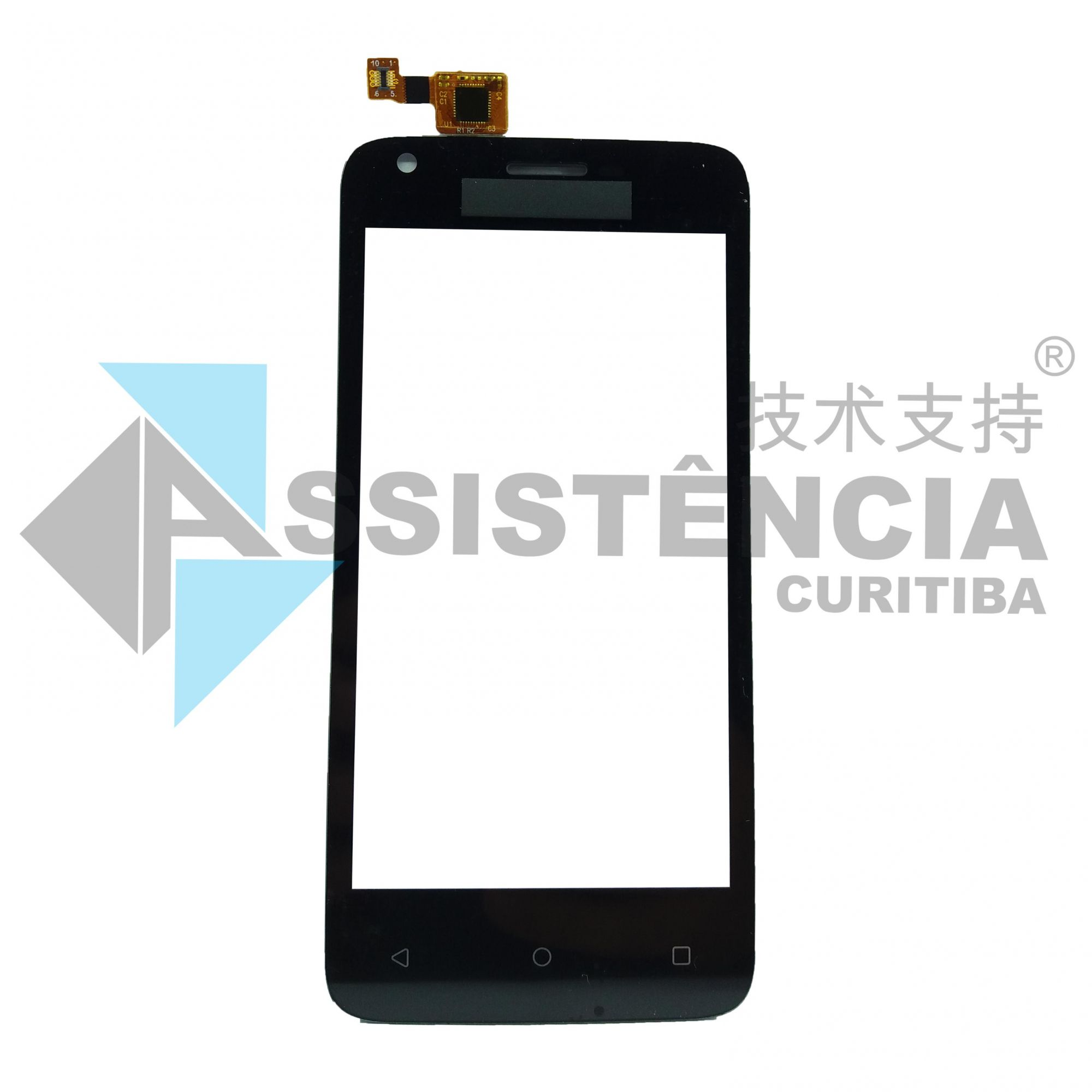 Tela Touch Multilaser Ms45 P9009 P9011 Preto