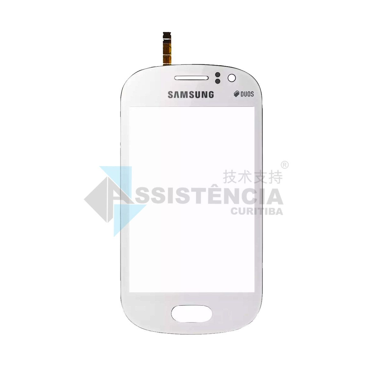 Tela Touch Samsung Galaxy Fame Duos S6810 S6812 Branco